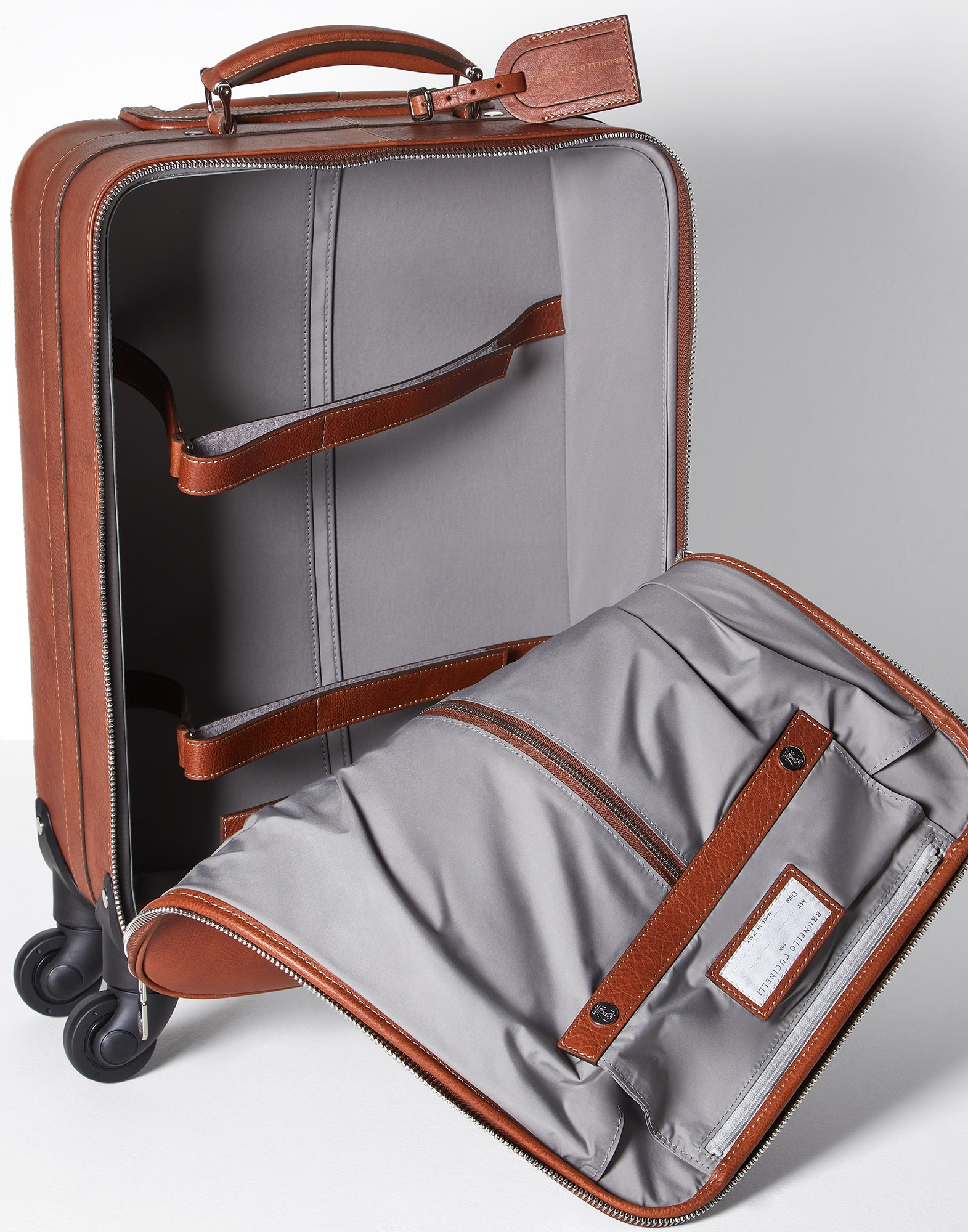 Wheeled Luggage Rum Man 4 - Brunello Cucinelli