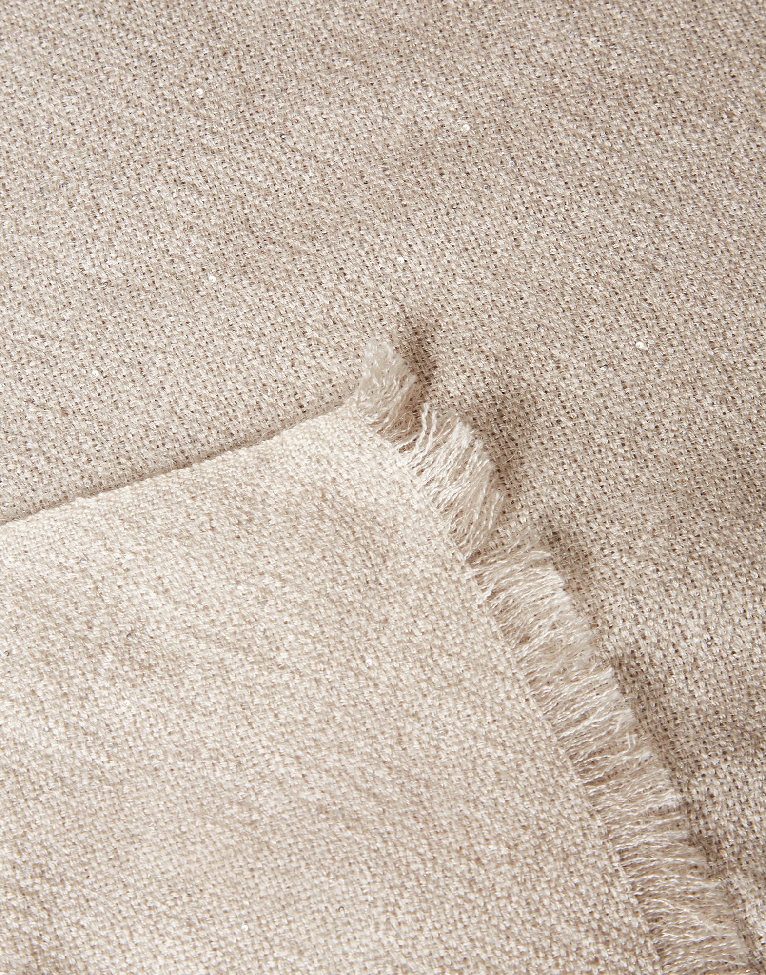 Solid Scarf Cool Beige Woman 2 - Brunello Cucinelli