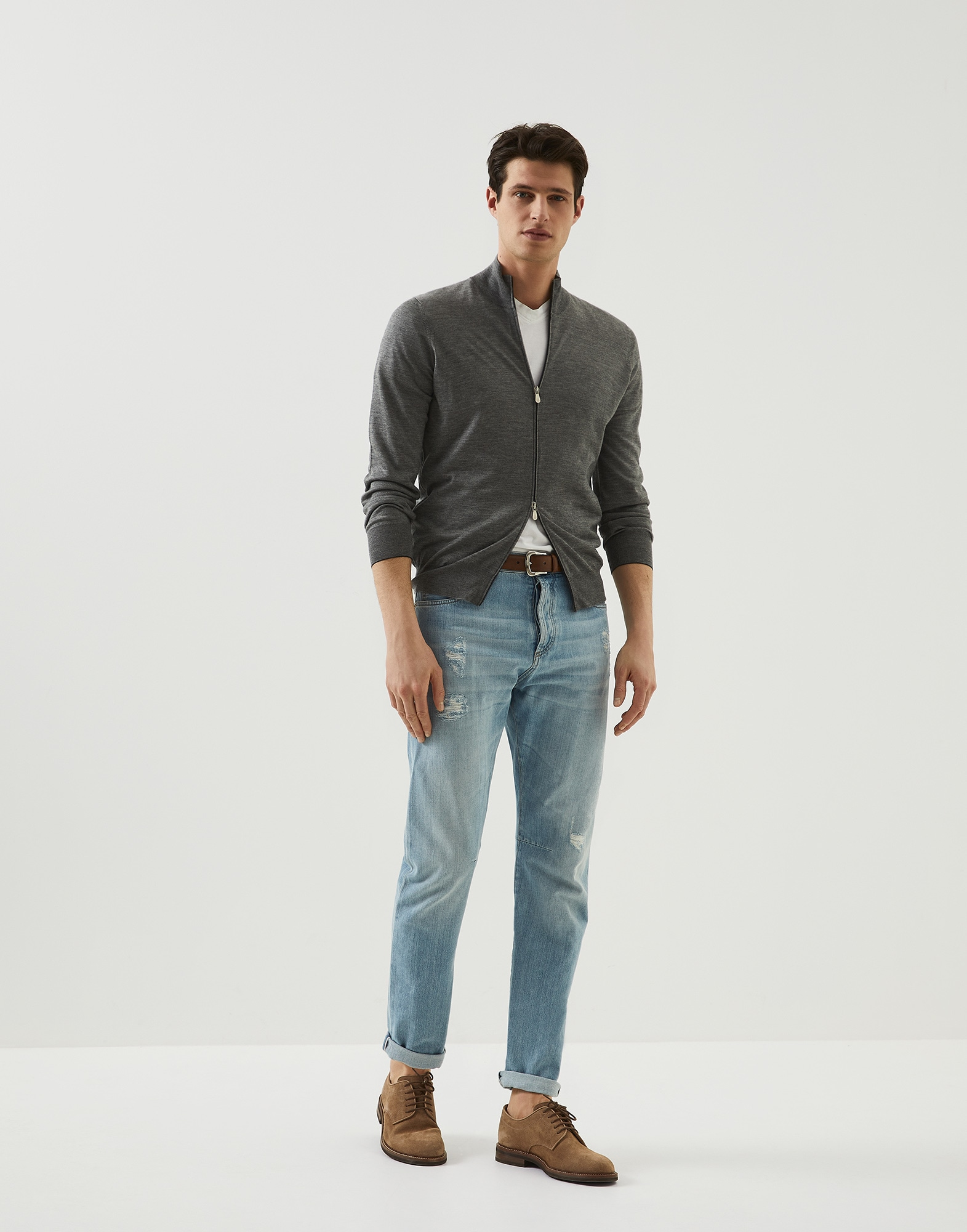 Zip-front Cardigan - Full look