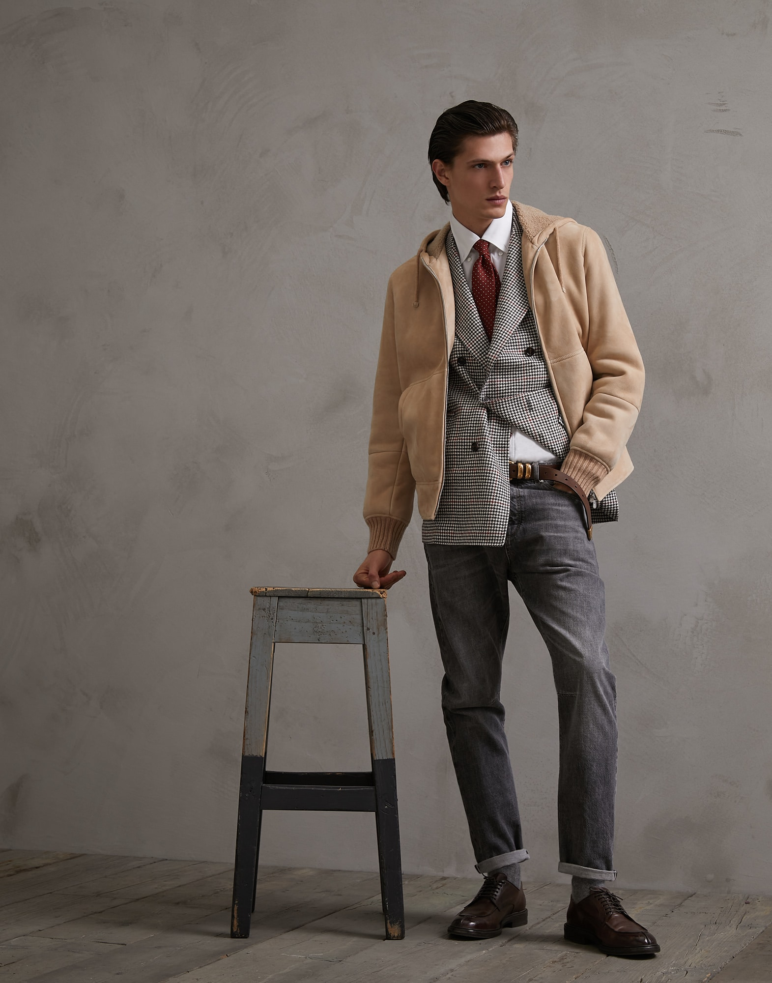 Leather Biscuit Man 4 - Brunello Cucinelli