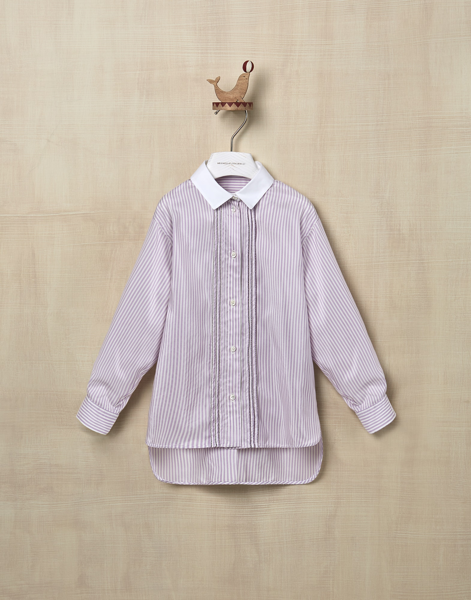Shirt Lilac Girl 1 - Brunello Cucinelli