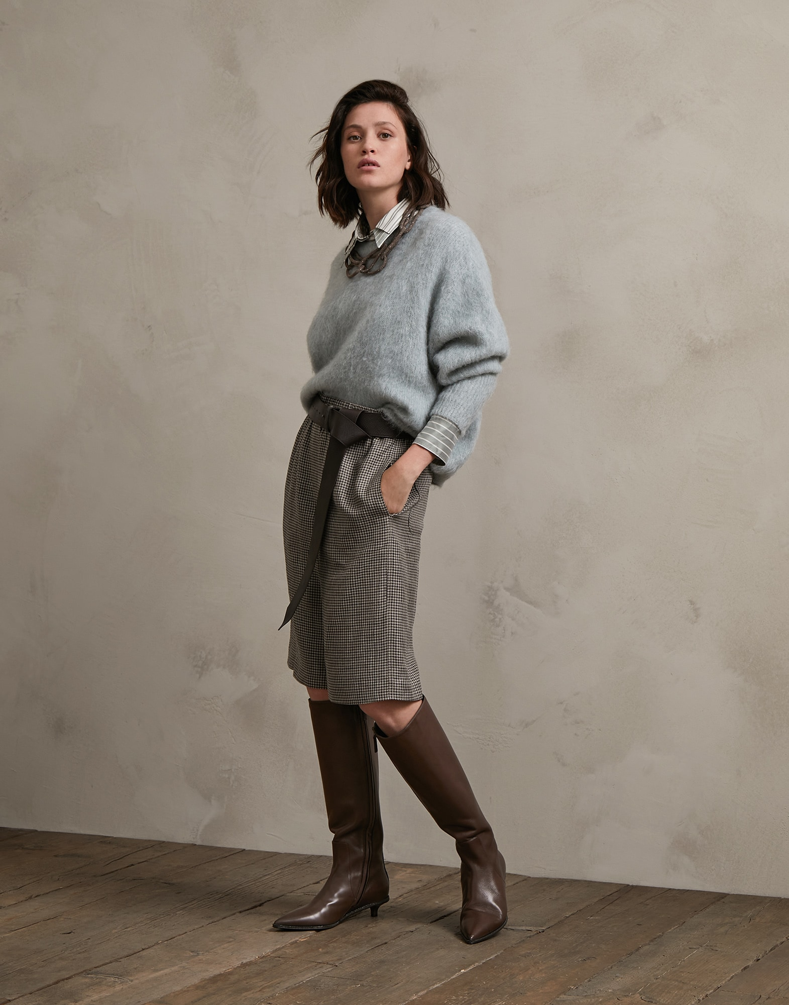 Crewneck Sweater Water Woman 4 - Brunello Cucinelli