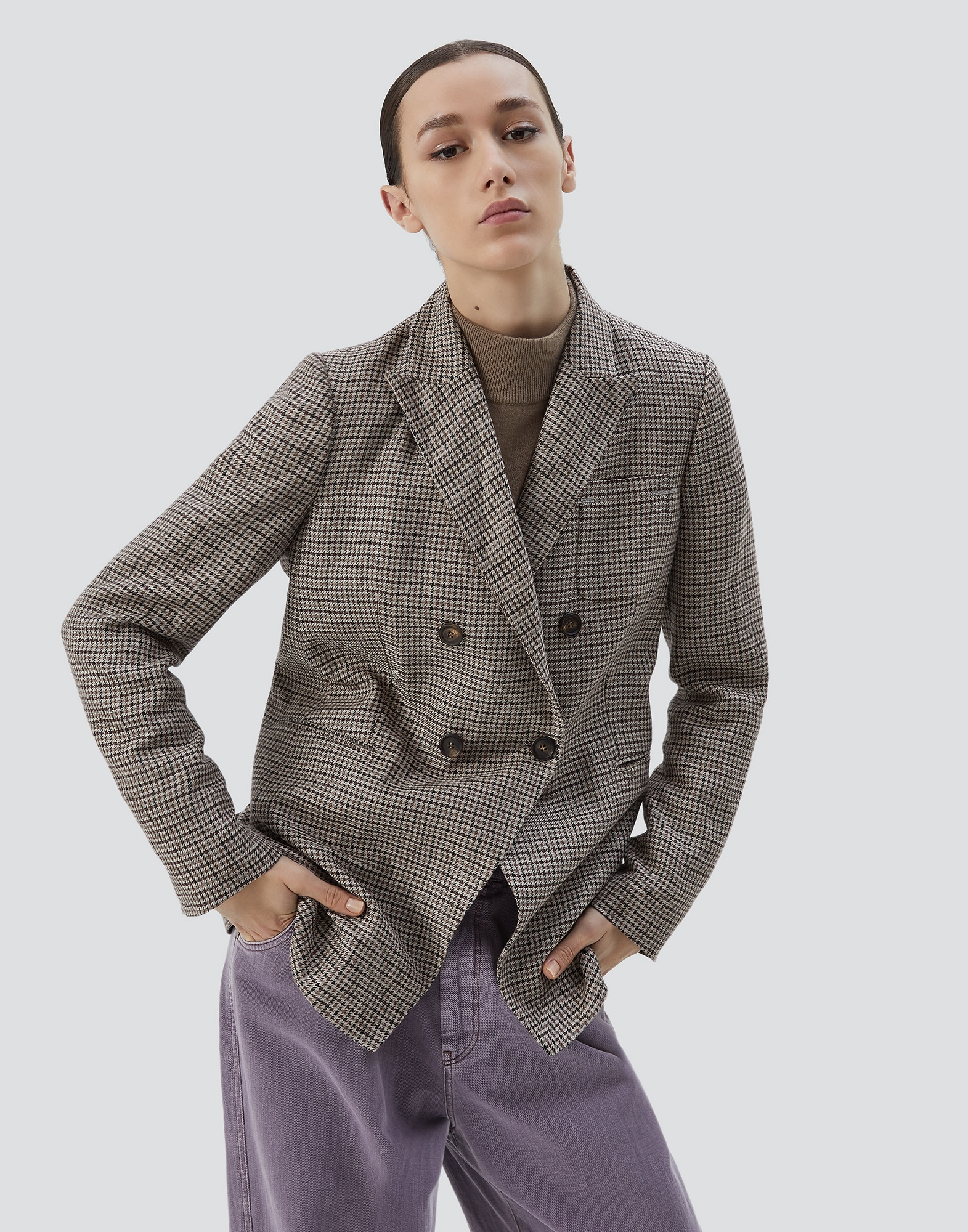 Blazer Tobacco Woman 1 - Brunello Cucinelli