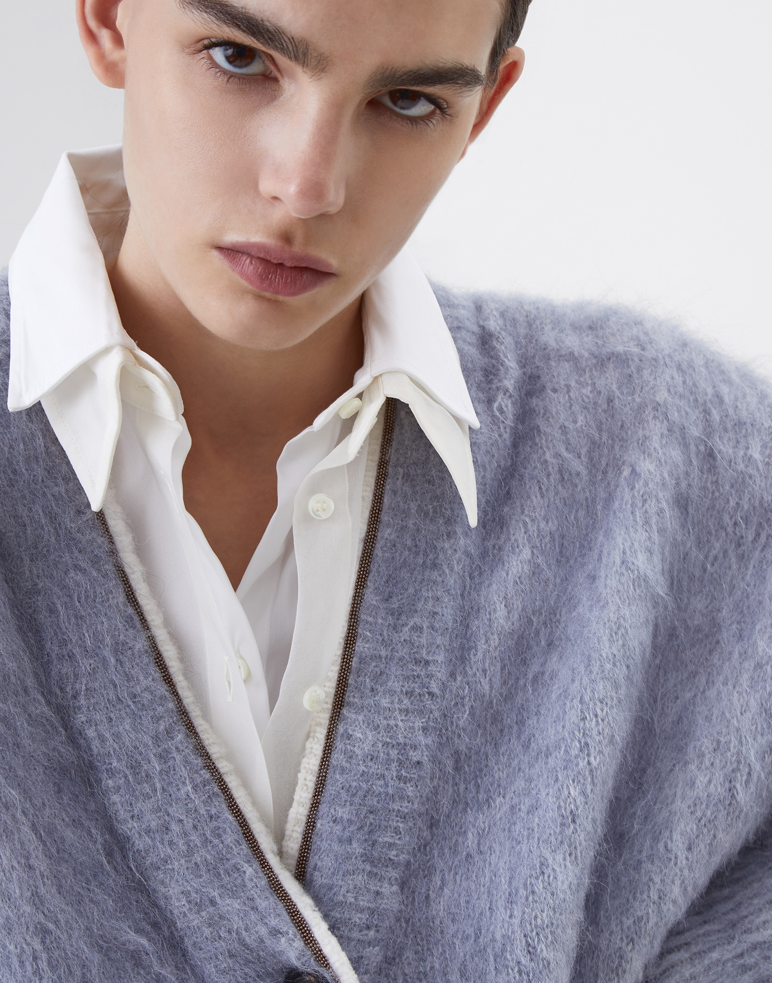 Cardigan Sky Blue Woman 2 - Brunello Cucinelli