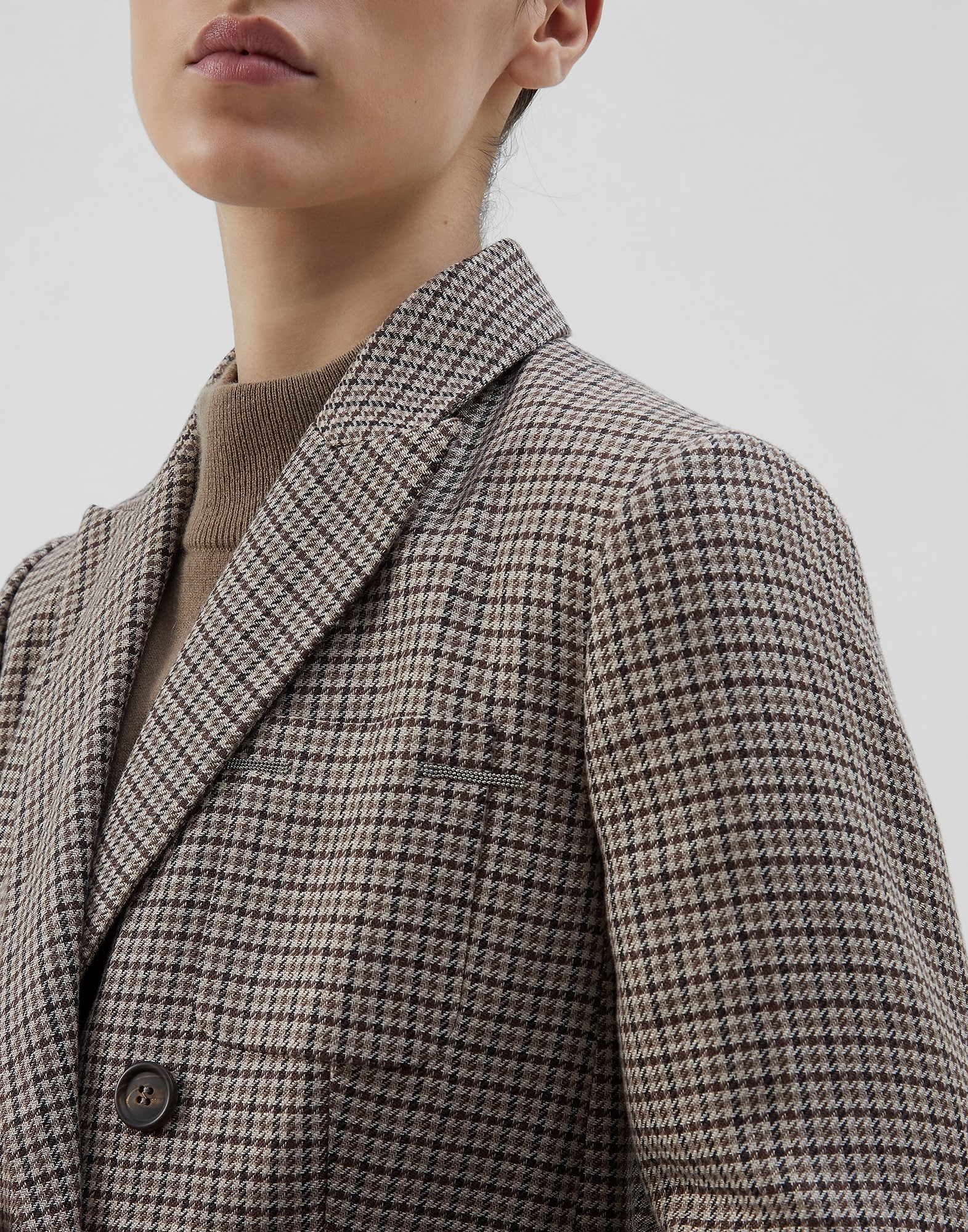 Blazer Tobacco Woman 3 - Brunello Cucinelli