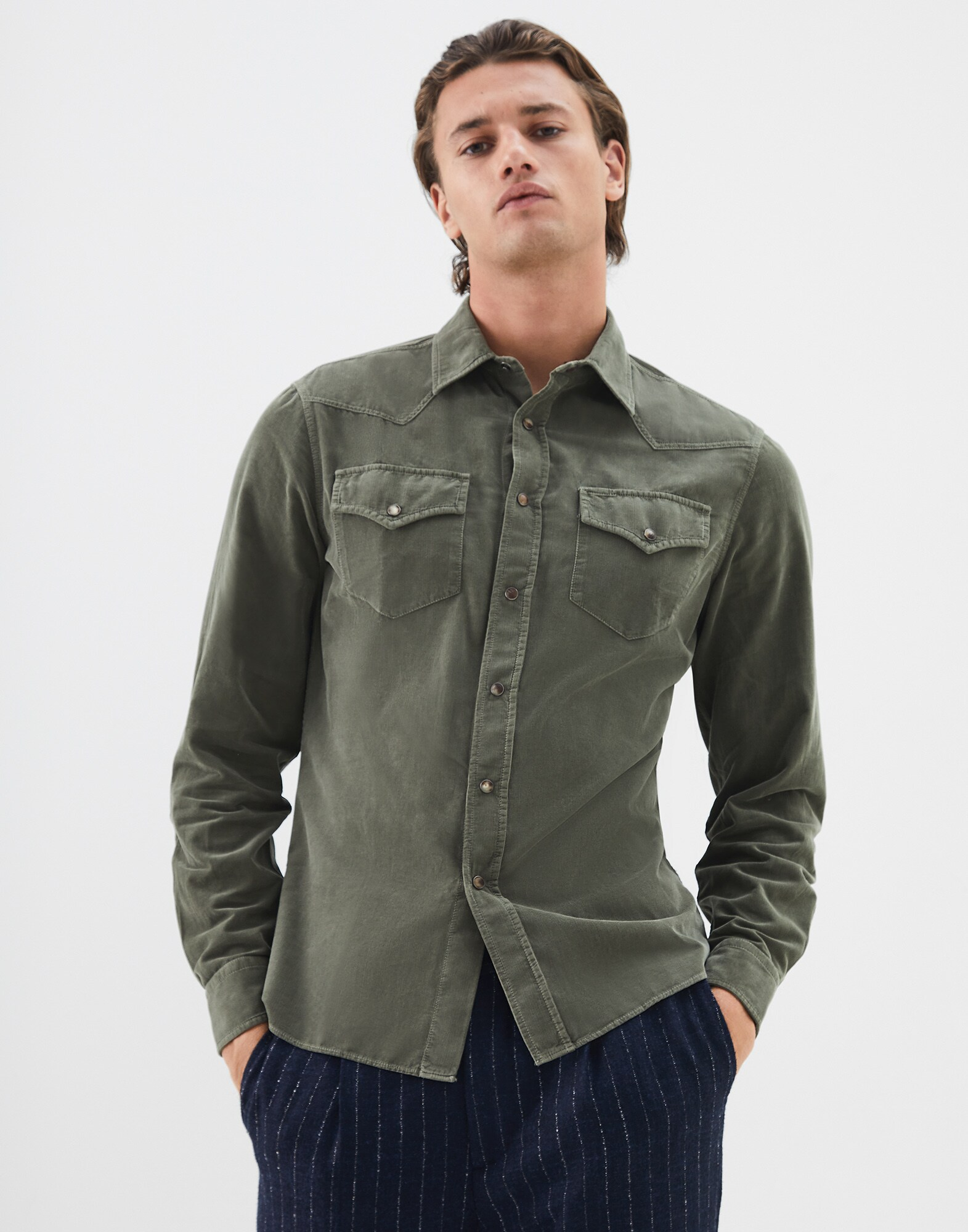 Casual Shirt Military Man 1 - Brunello Cucinelli