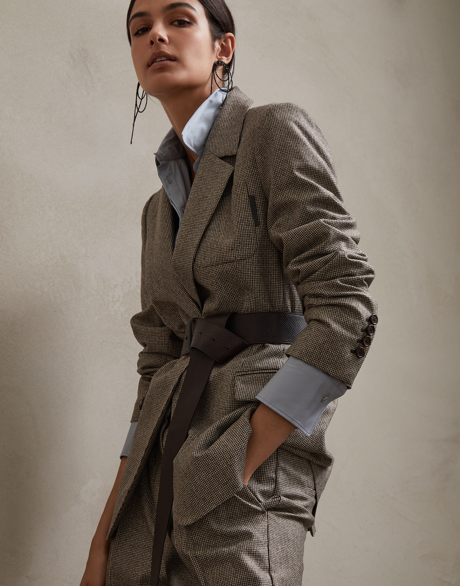 Blazer Brown Woman 4 - Brunello Cucinelli