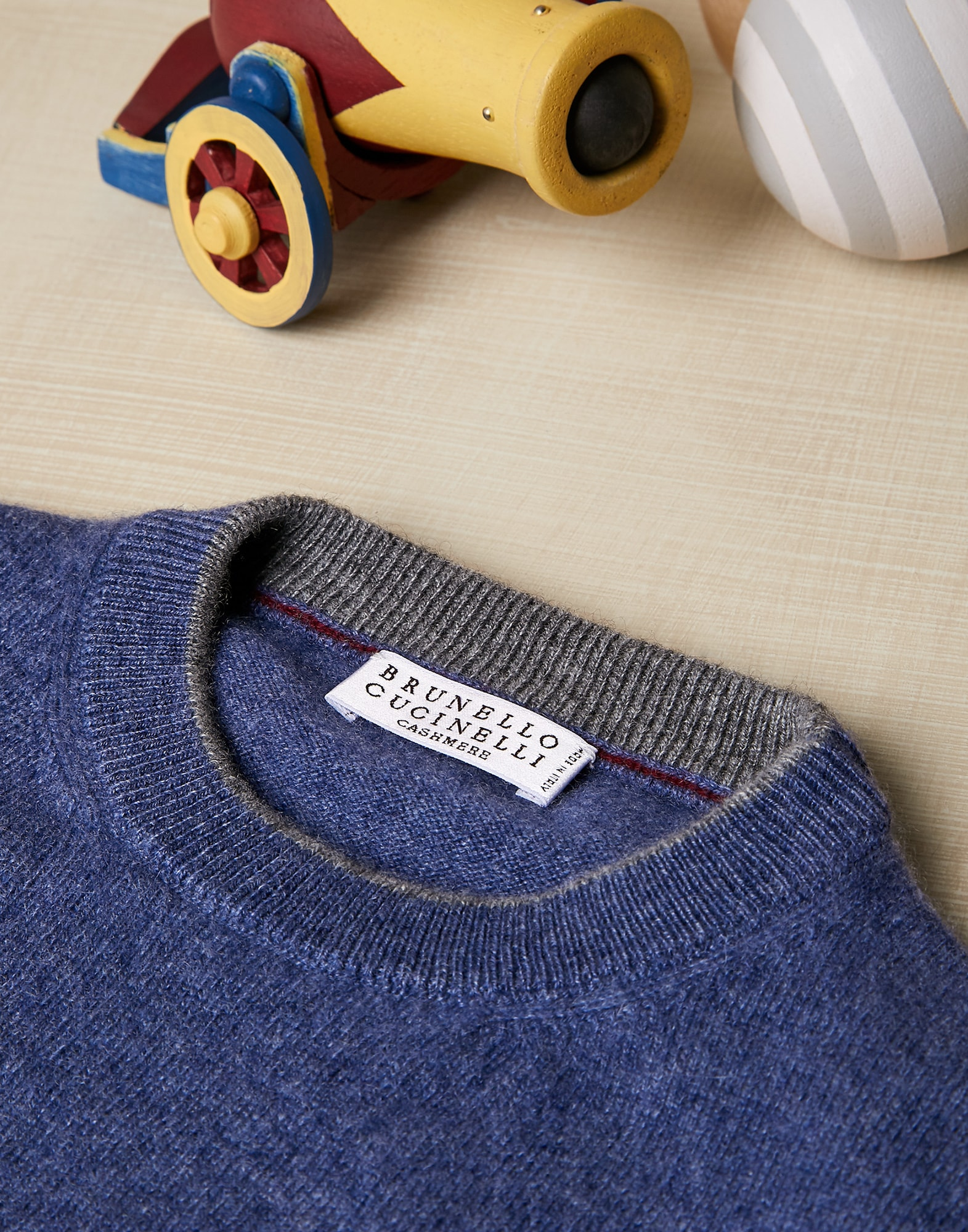 Crewneck Sweater Denim Boy 2 - Brunello Cucinelli
