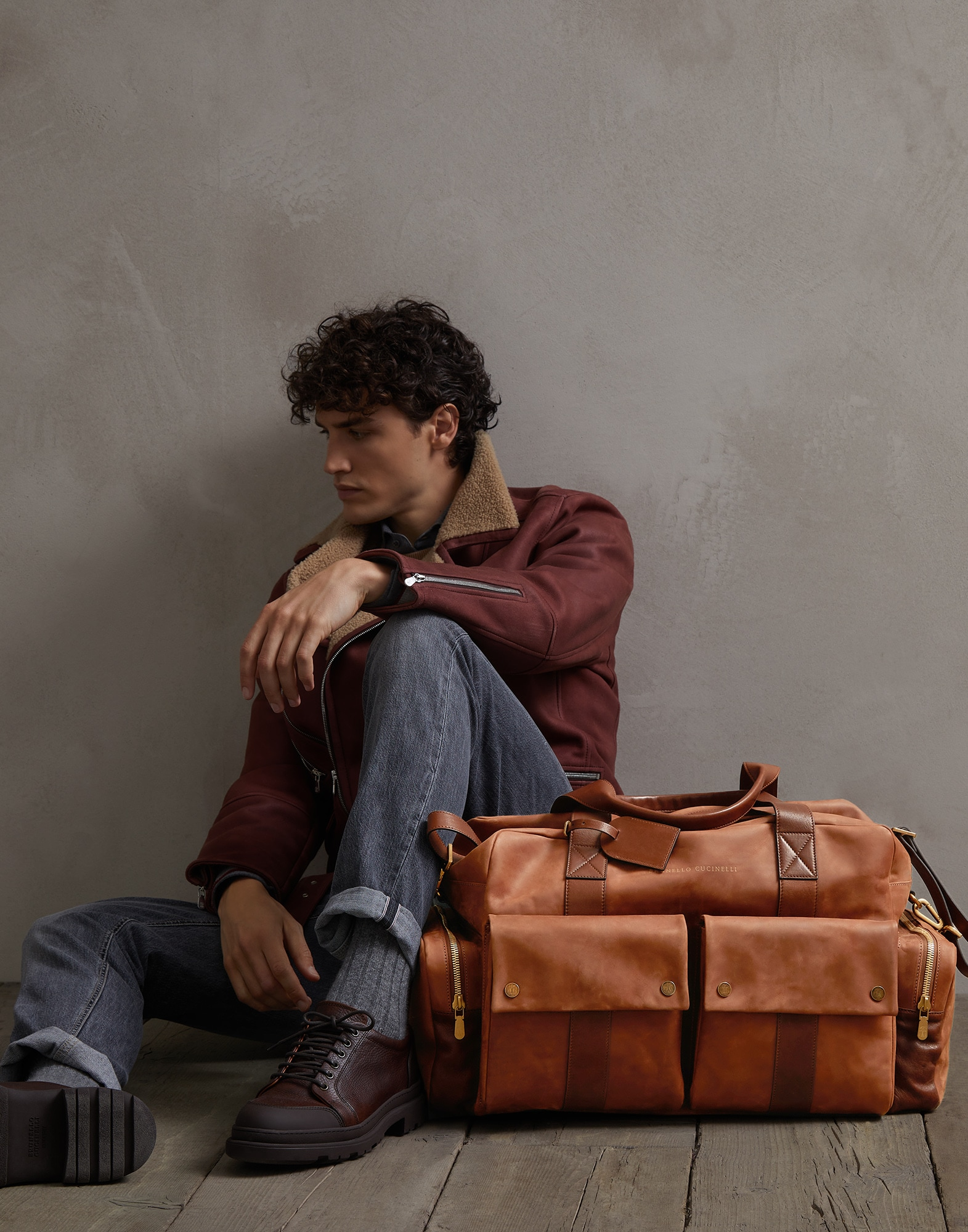 Leisure Bag Bark Man 4 - Brunello Cucinelli