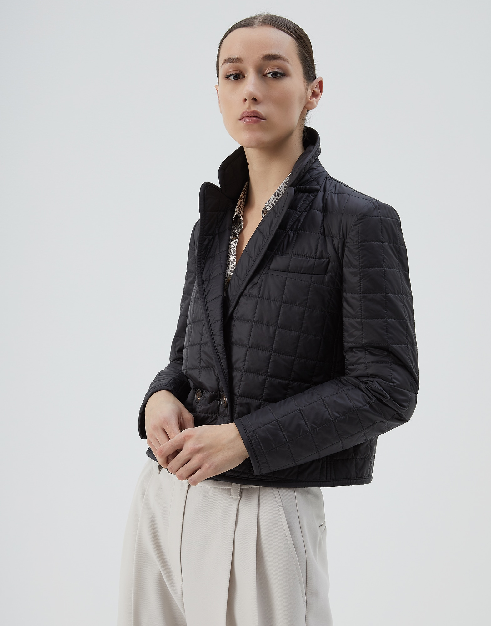 Down Jacket Black Woman 1 - Brunello Cucinelli