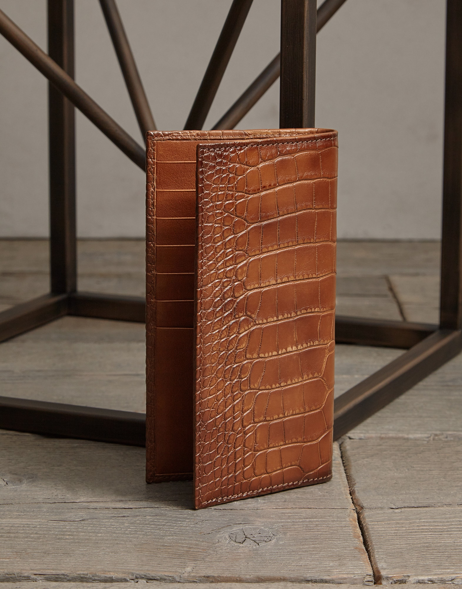Card Holder Cognac Man 1 - Brunello Cucinelli