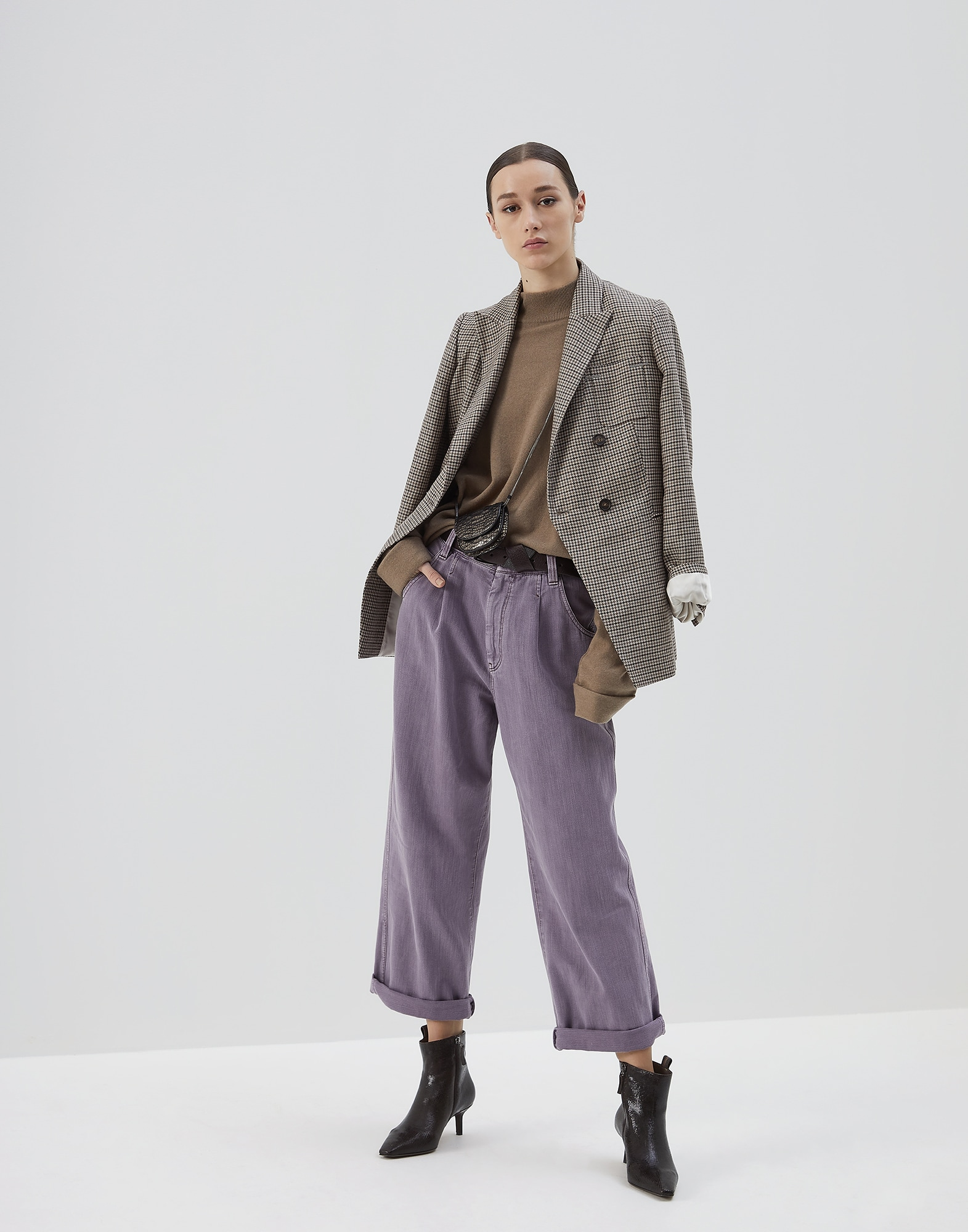 Blazer Tobacco Woman 4 - Brunello Cucinelli