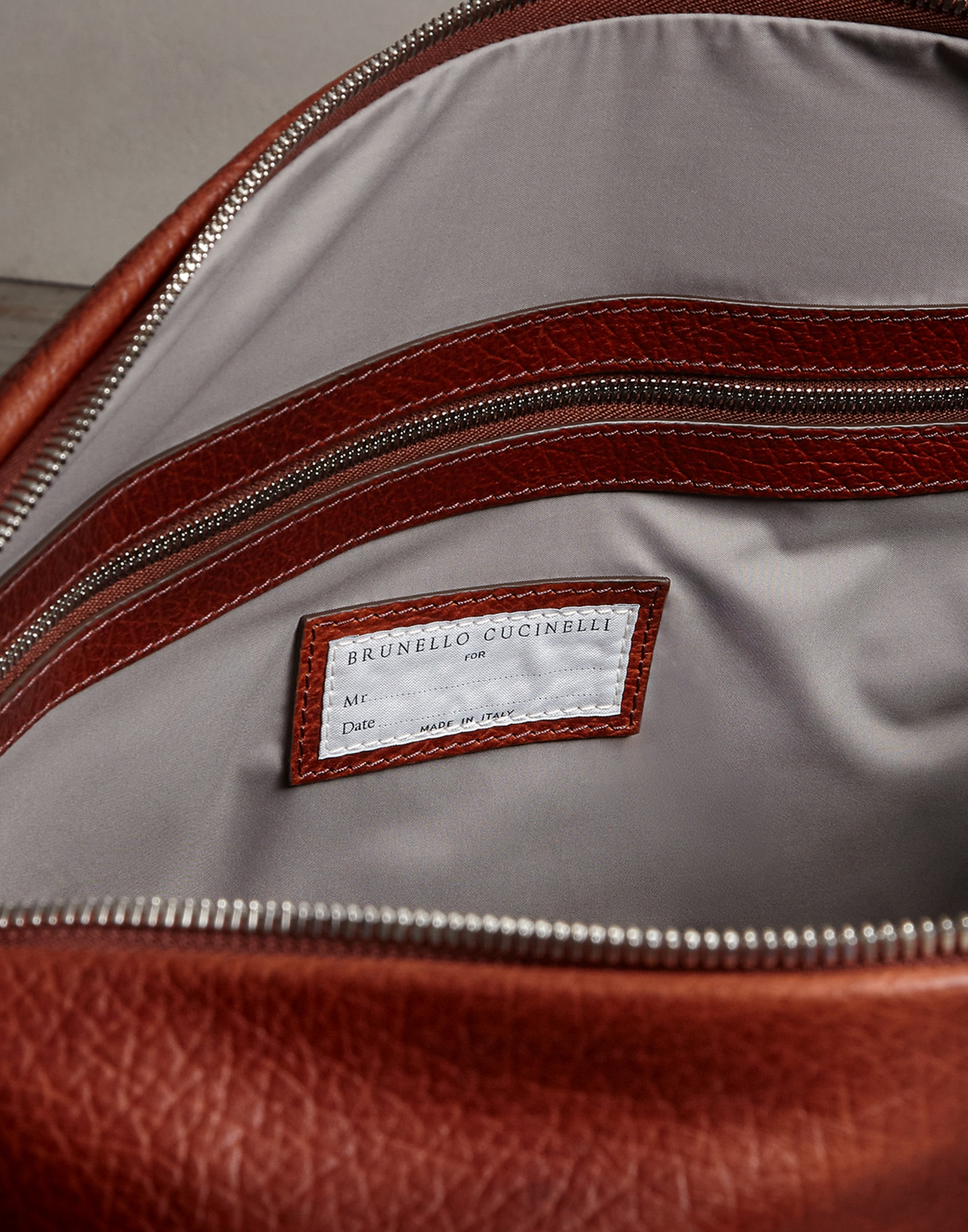 Leisure Bag Cognac Man 3 - Brunello Cucinelli