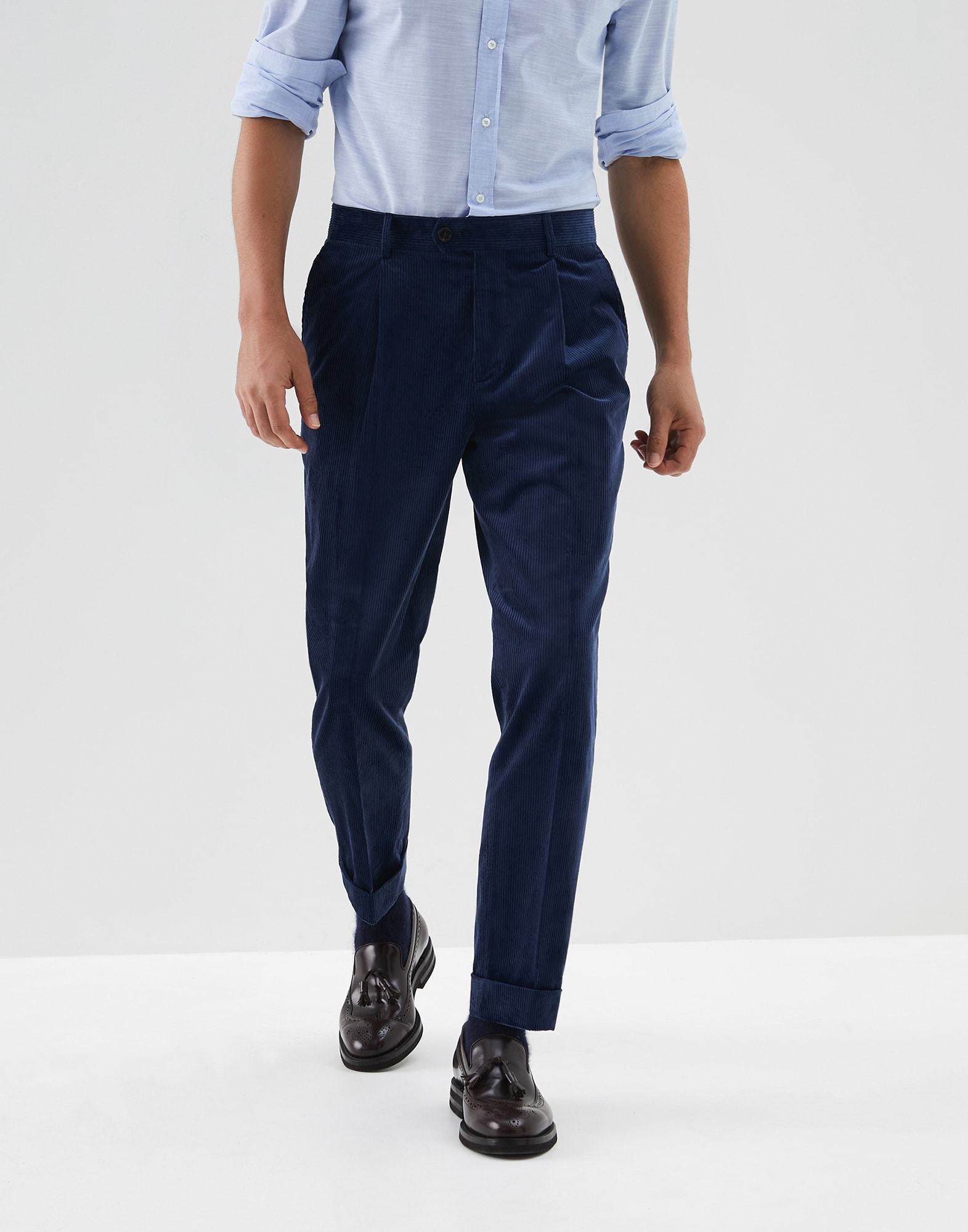 Trousers Blue Ford Man 0 - Brunello Cucinelli