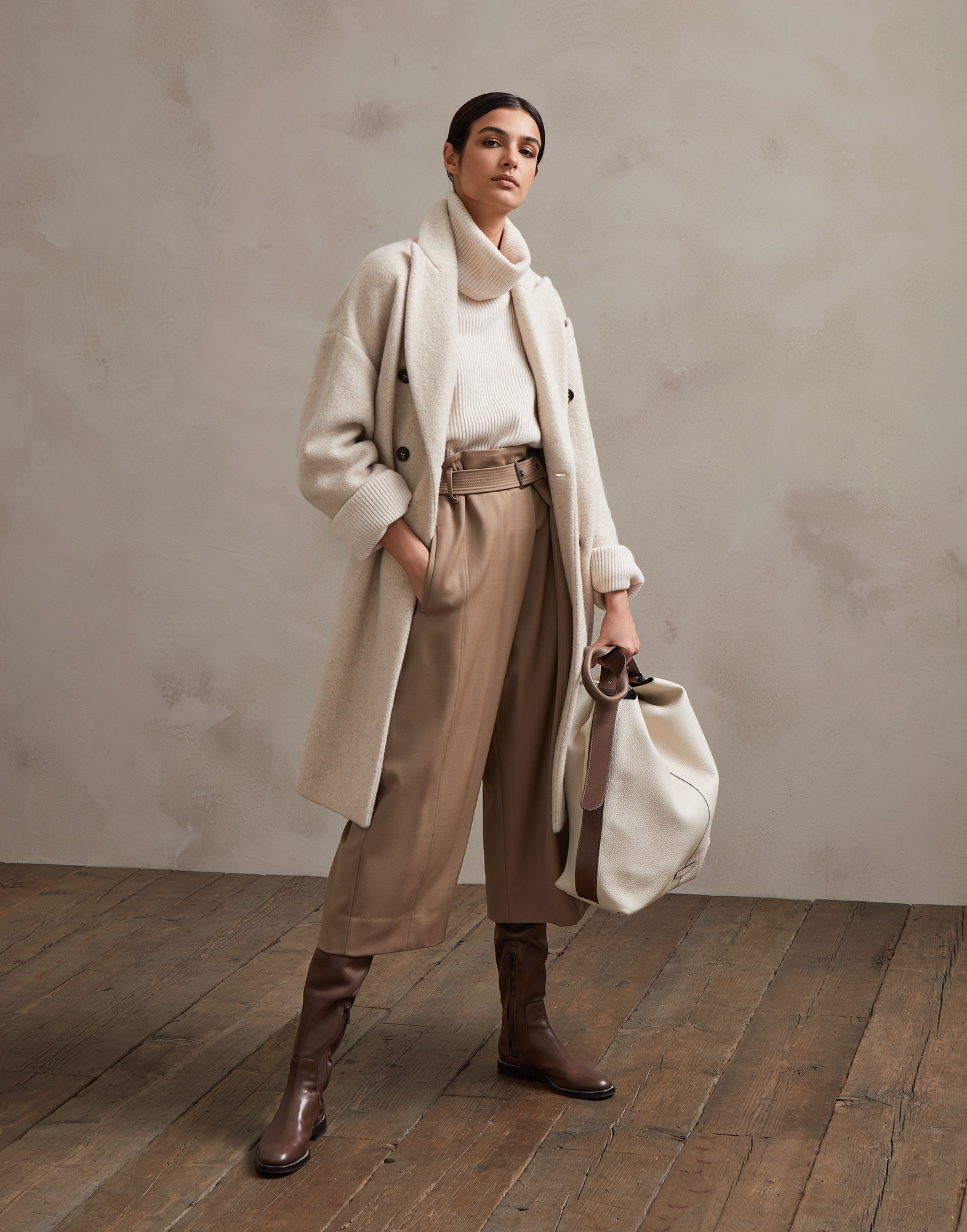 Trousers Light Brown Woman 3 - Brunello Cucinelli