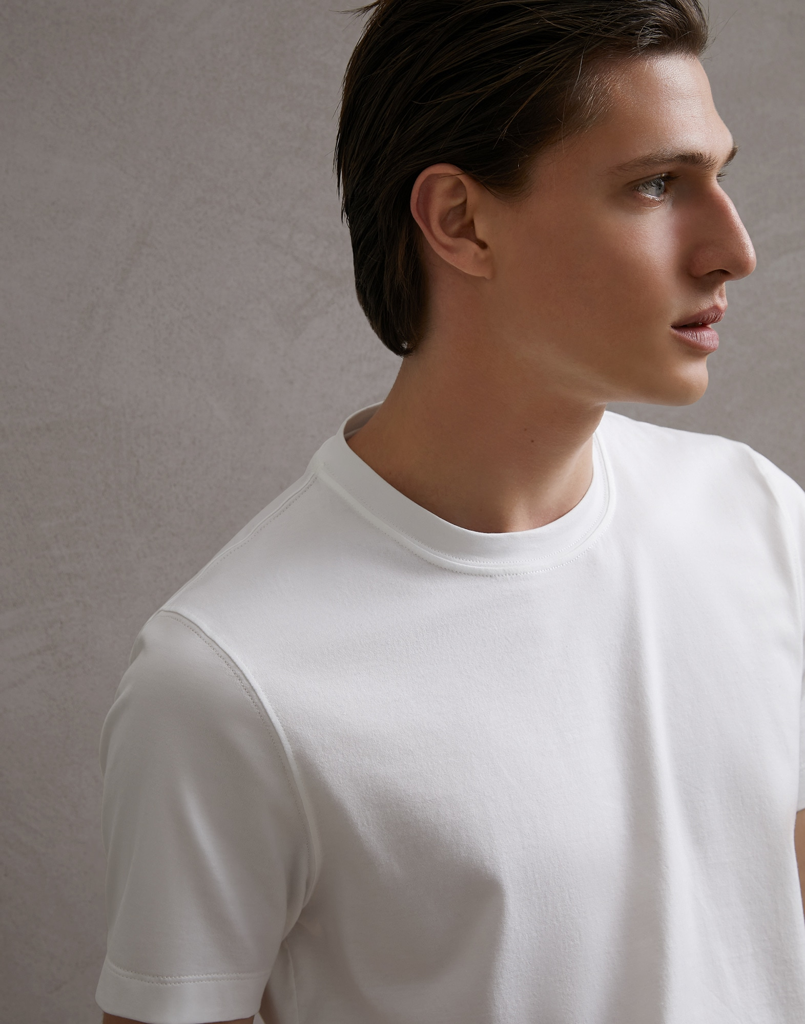Short Sleeve T-Shirt White Man 3 - Brunello Cucinelli