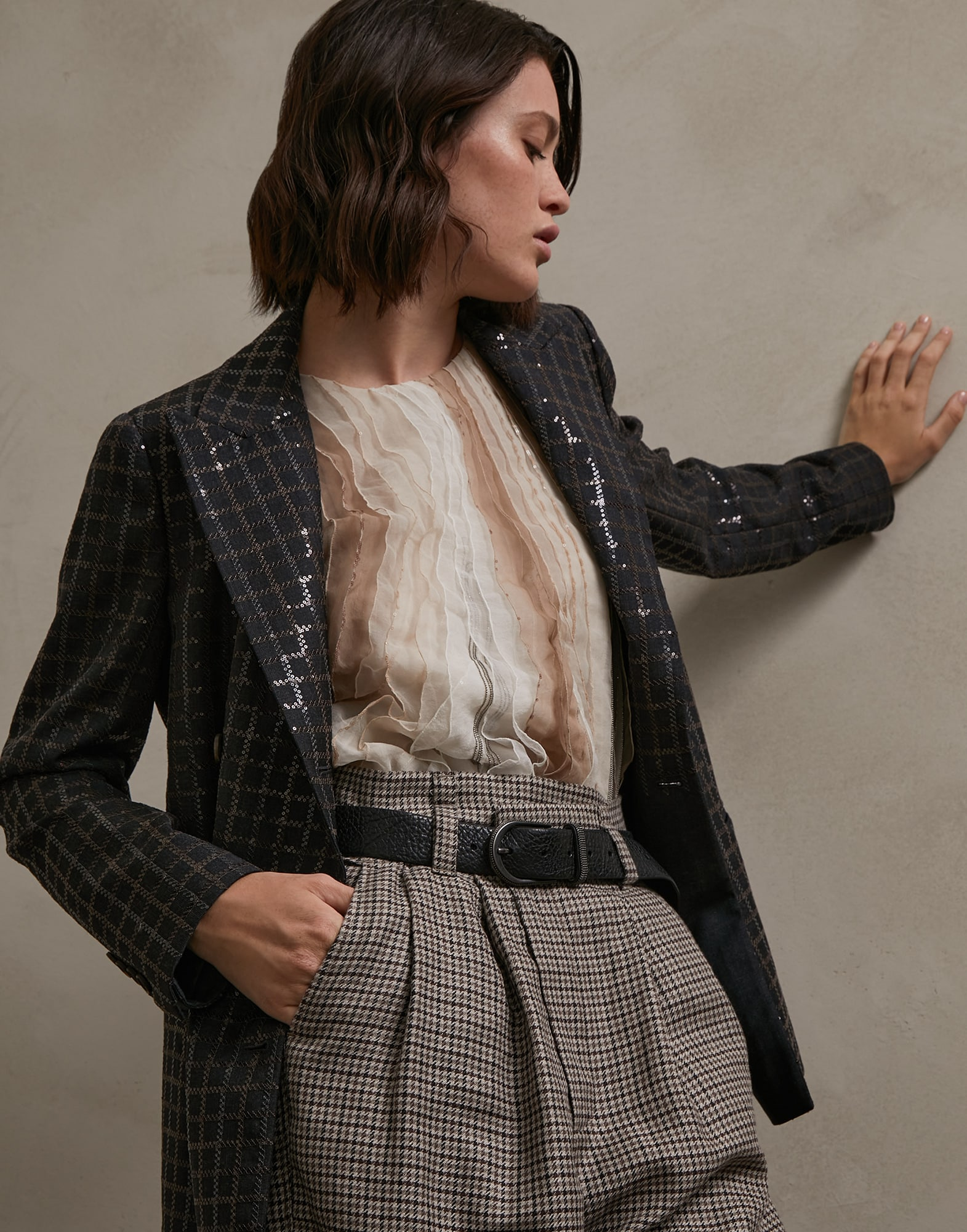 Blazer Anthracite Woman 4 - Brunello Cucinelli