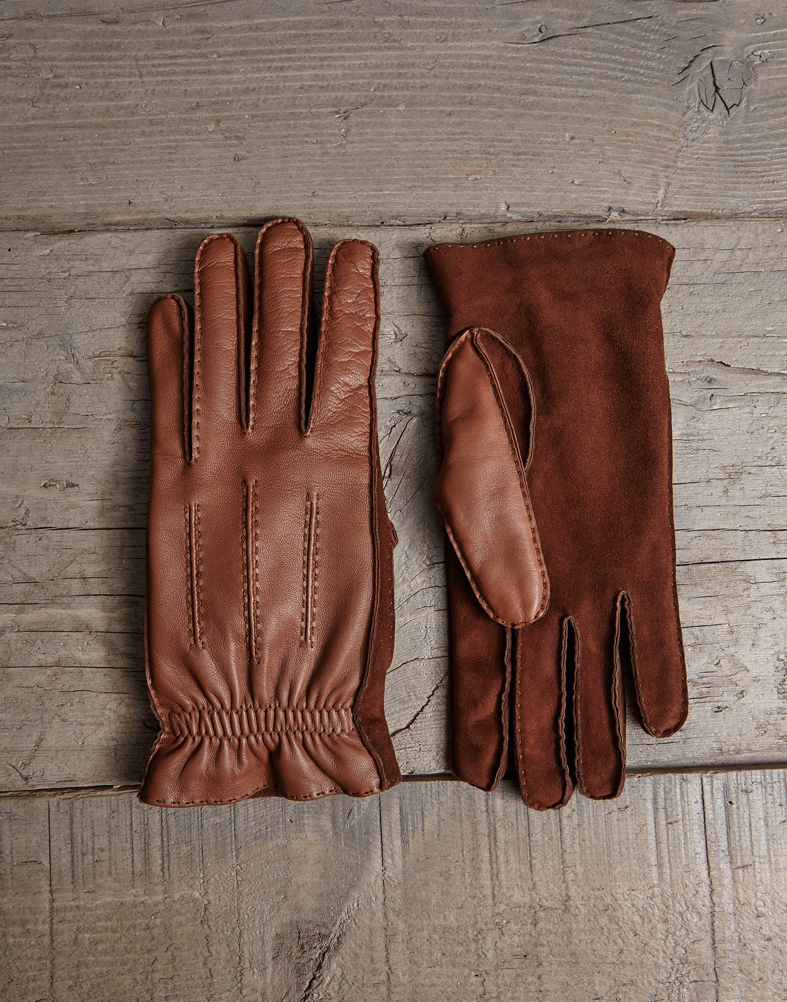 Gloves Brown Man 0 - Brunello Cucinelli