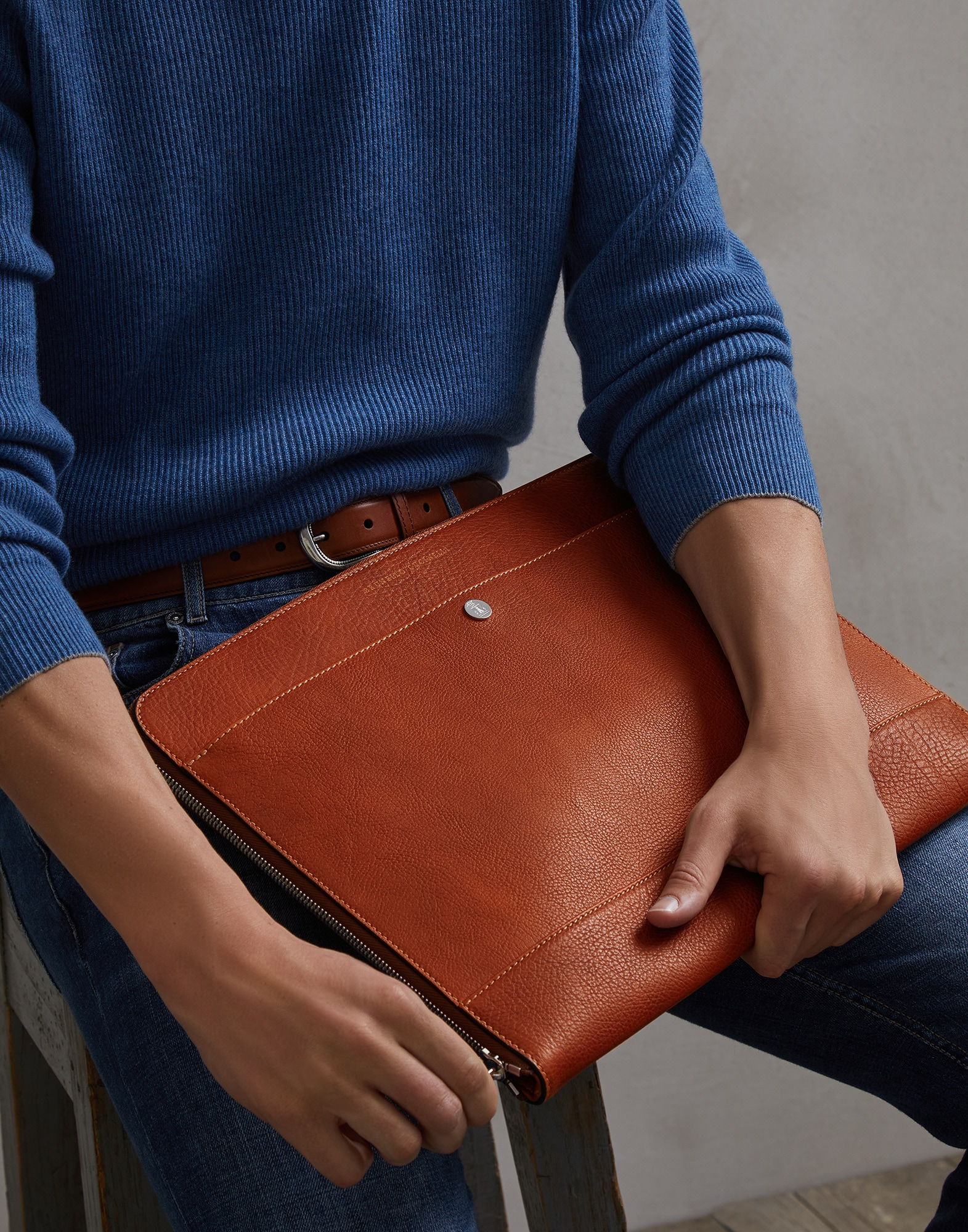 Document Holder Rum Man 3 - Brunello Cucinelli