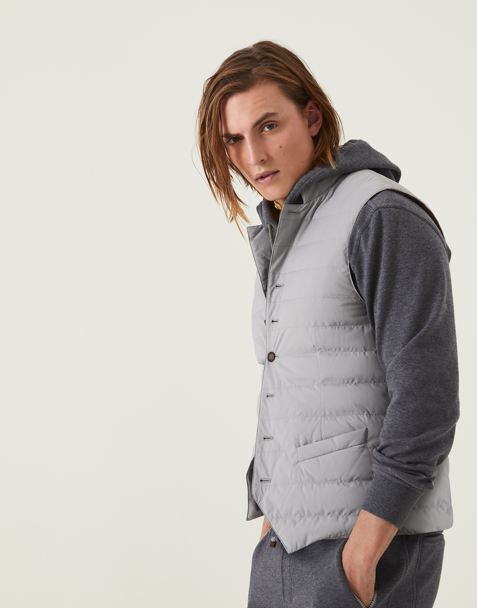 Down Sleeveless Jacket - Front view