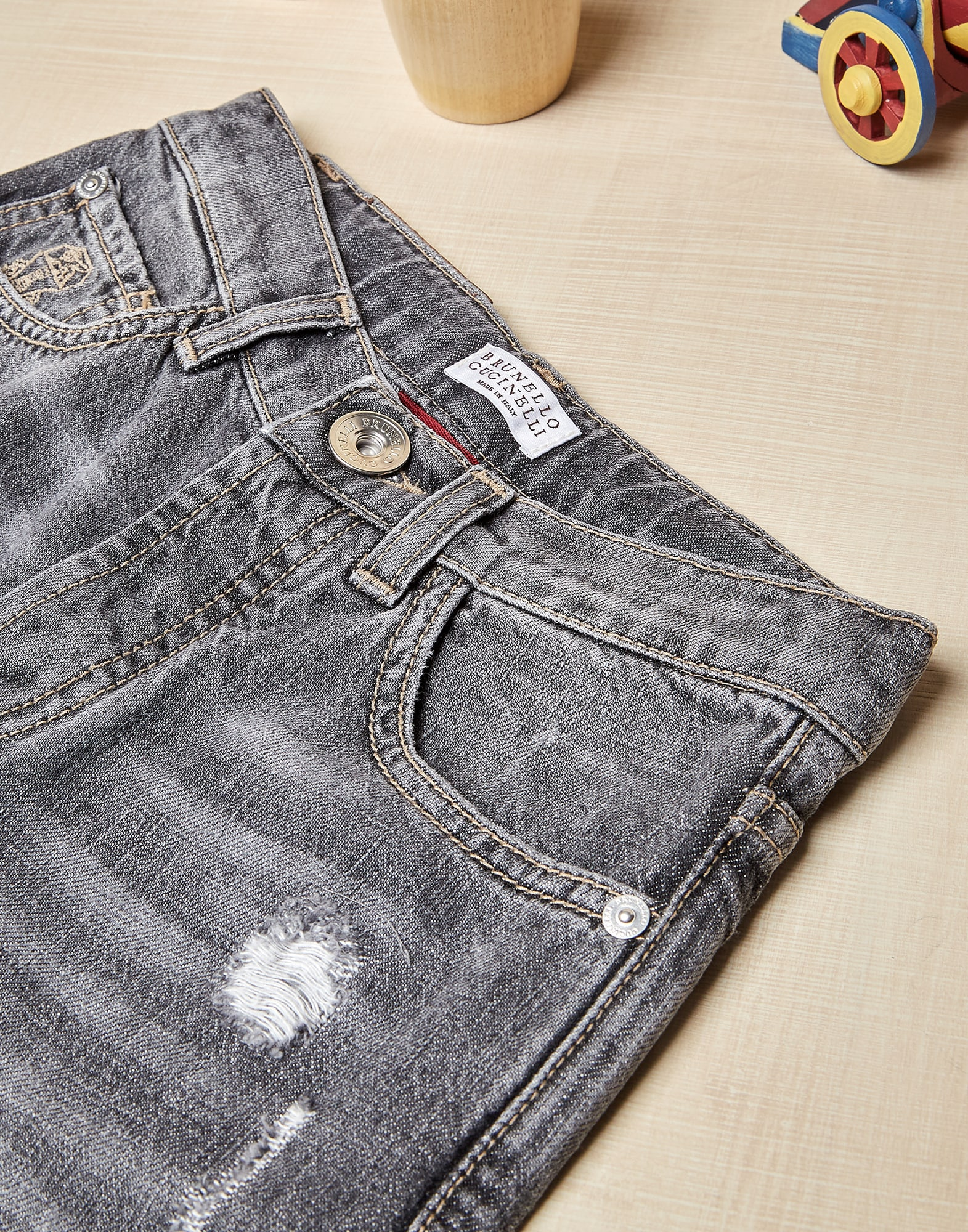 Pantalon en Denim - Detail