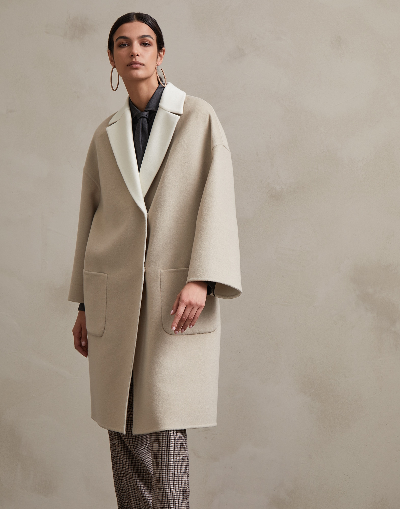 Coat Natural Woman 1 - Brunello Cucinelli