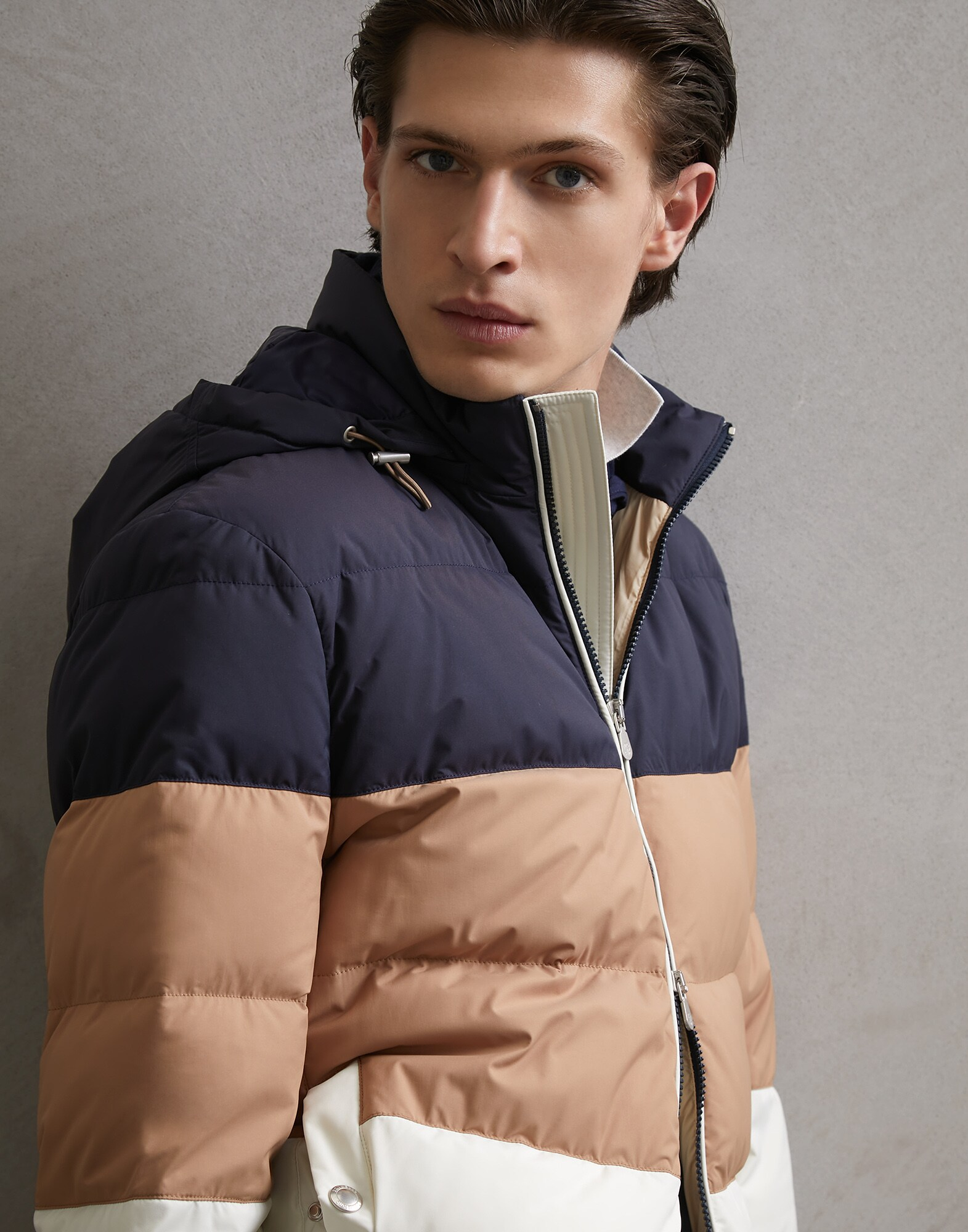 Down Jacket Off-White Man 0 - Brunello Cucinelli