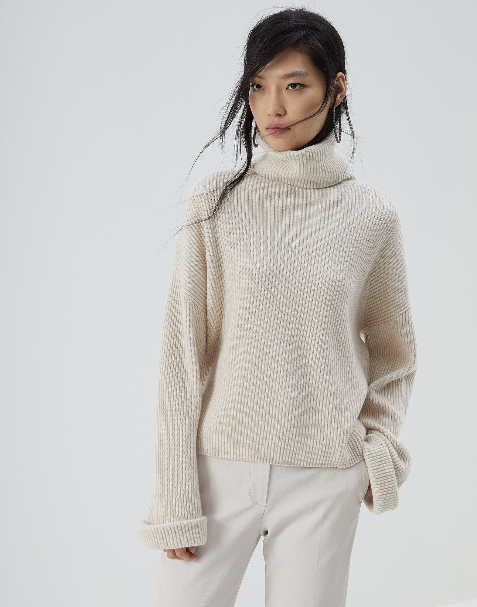High Neck Sweater - Front view