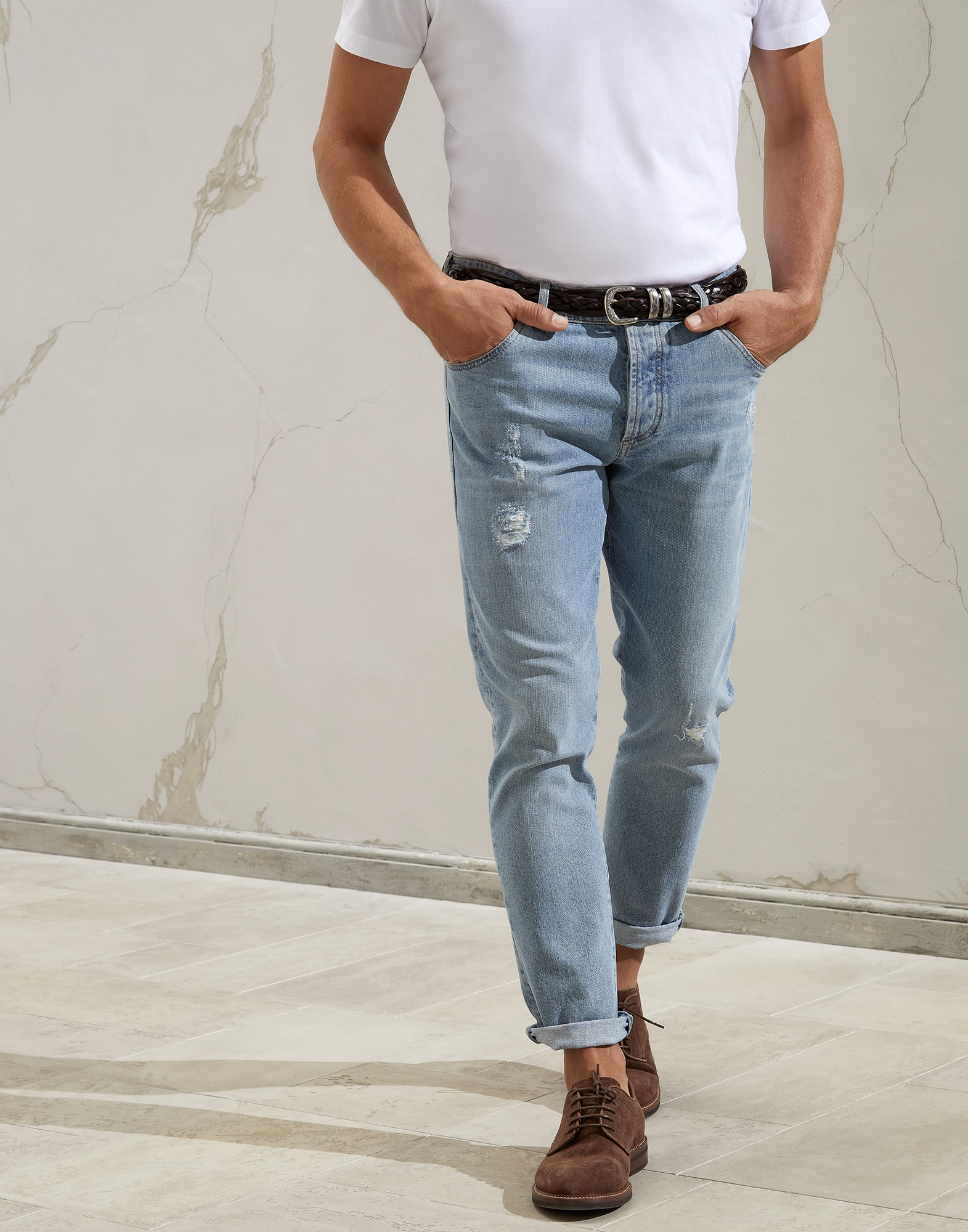 Denim Trousers - Front