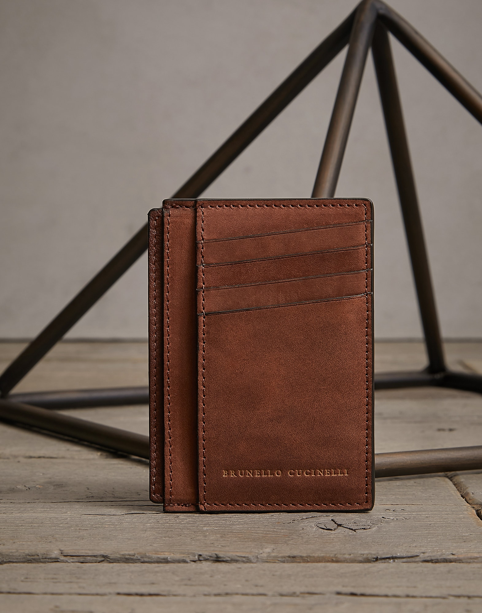 Card Holder Bark Man 0 - Brunello Cucinelli