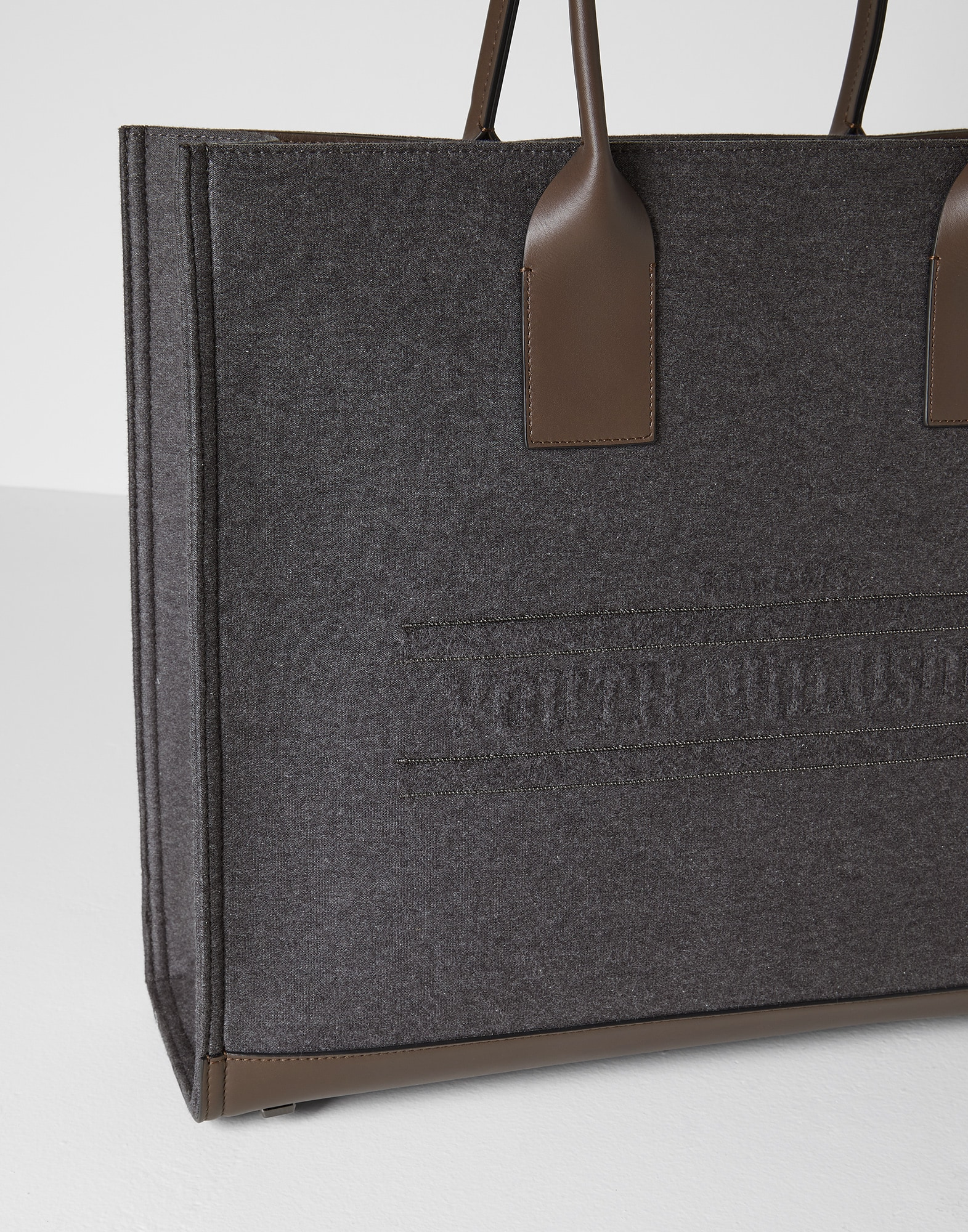 Shopper Bag Dark Grey Woman 2 - Brunello Cucinelli