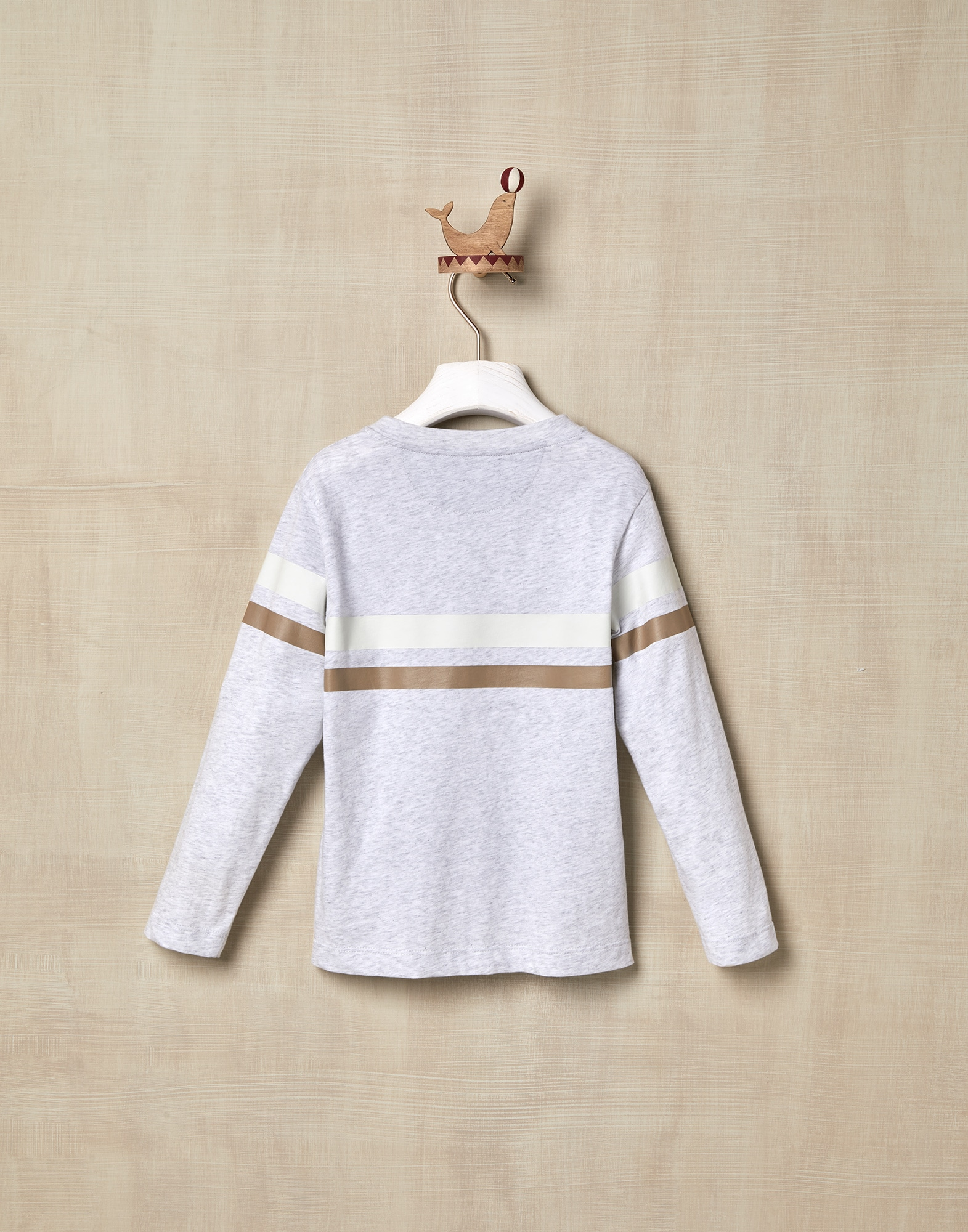 T-Shirt Pearl Grey Boy 1 - Brunello Cucinelli