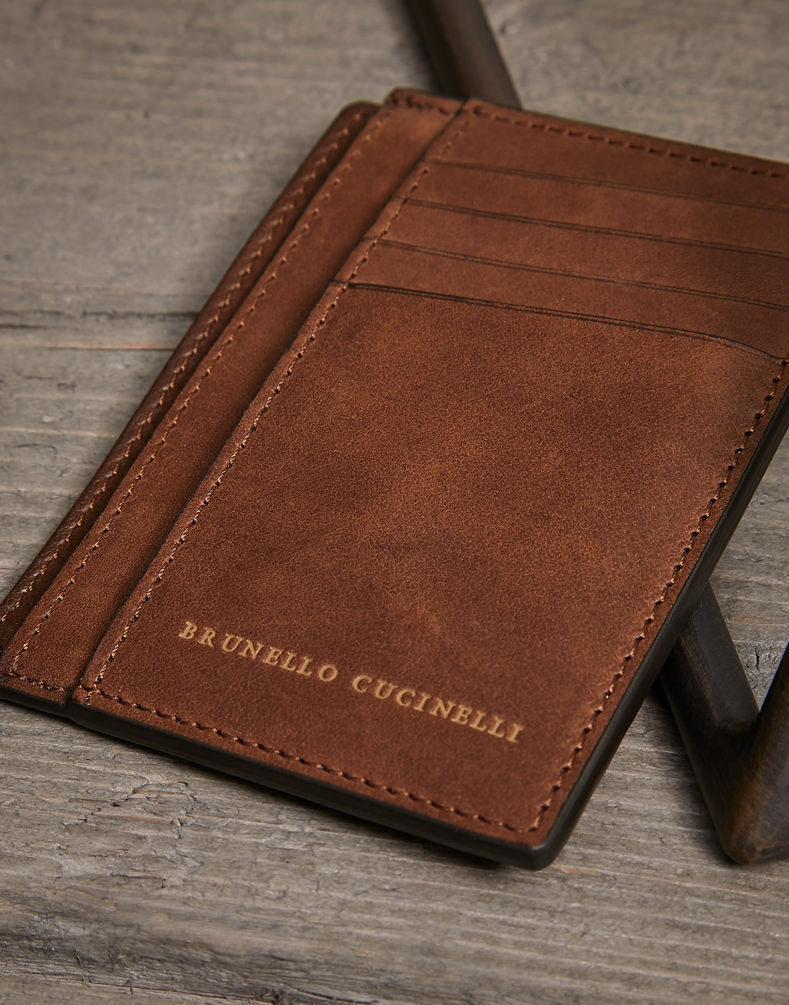 Card Holder Bark Man 2 - Brunello Cucinelli