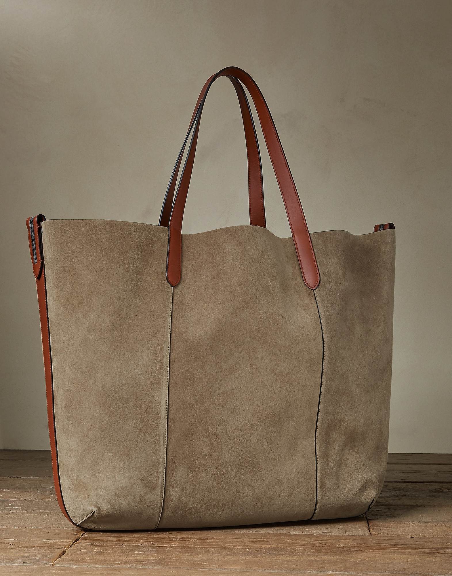Shopper Haselnuss Damen 1 - Brunello Cucinelli