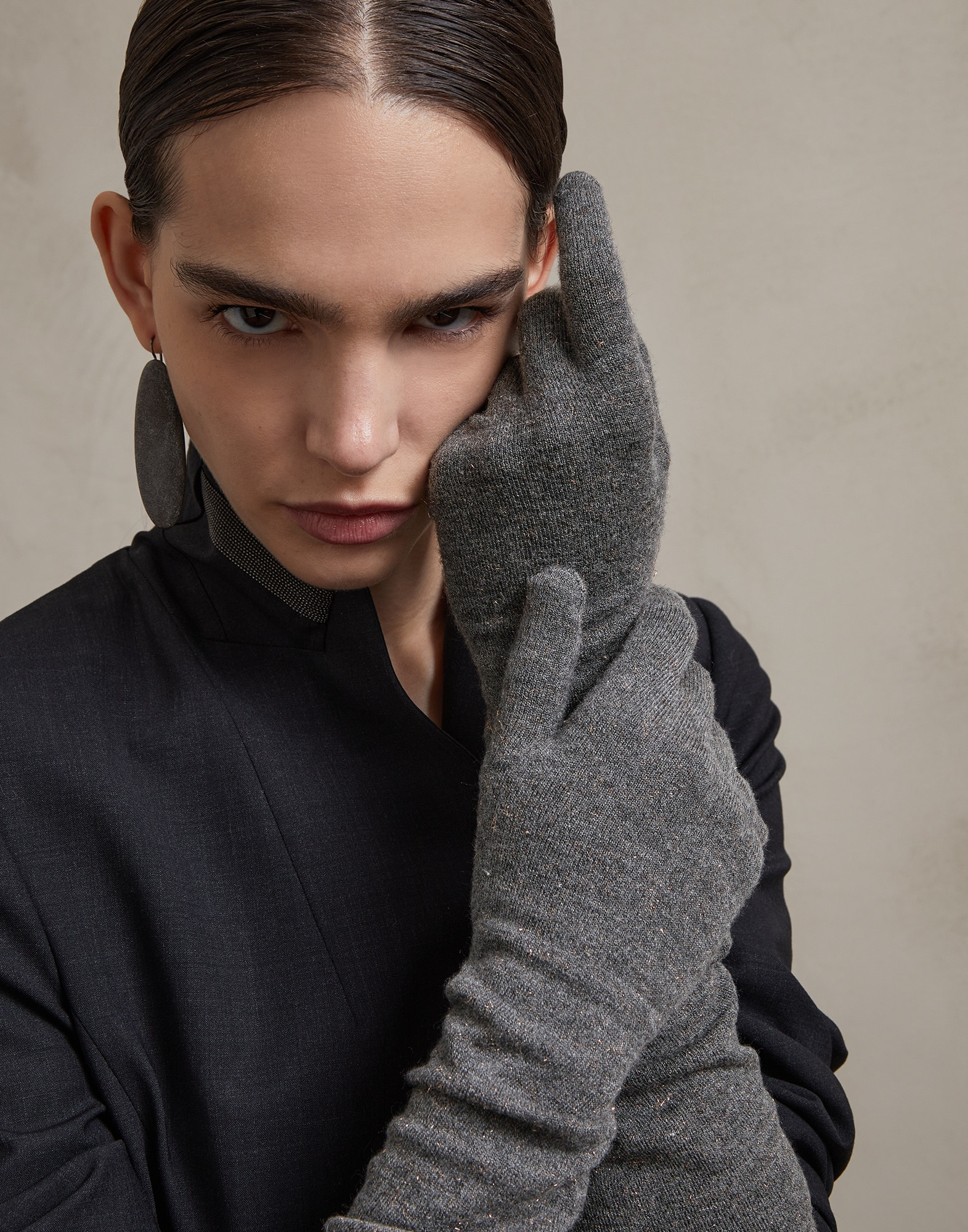 Gloves Medium Grey Woman 2 - Brunello Cucinelli