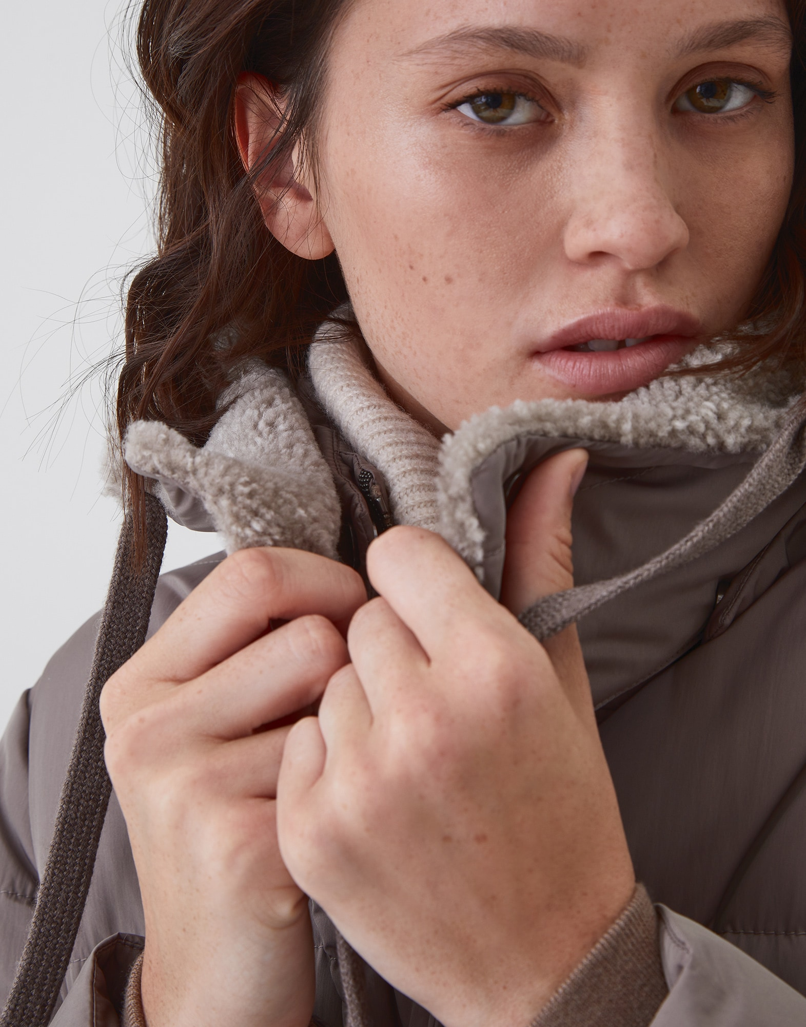 Down Jacket Mud Woman 2 - Brunello Cucinelli