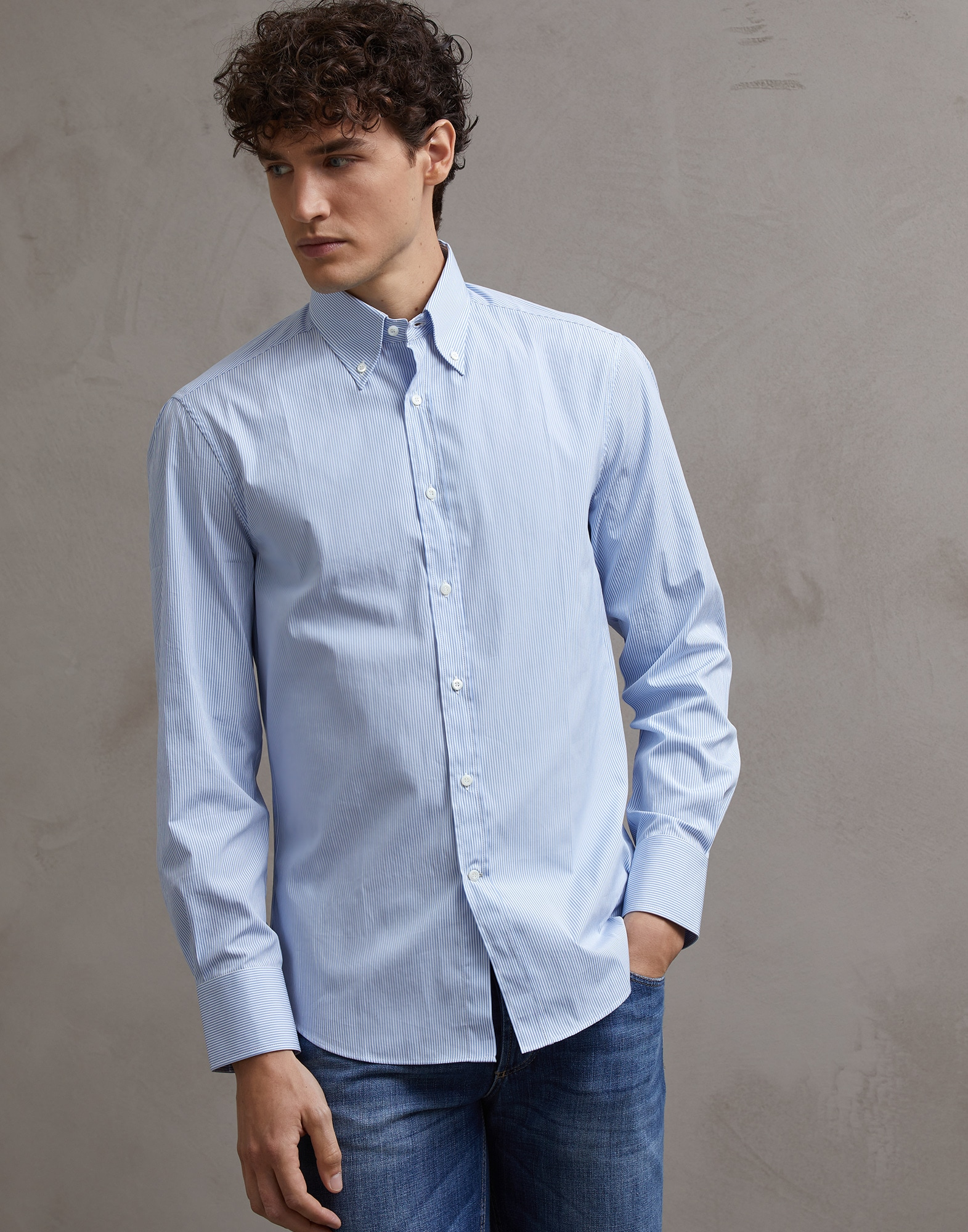Button-Down-Hemd - Front