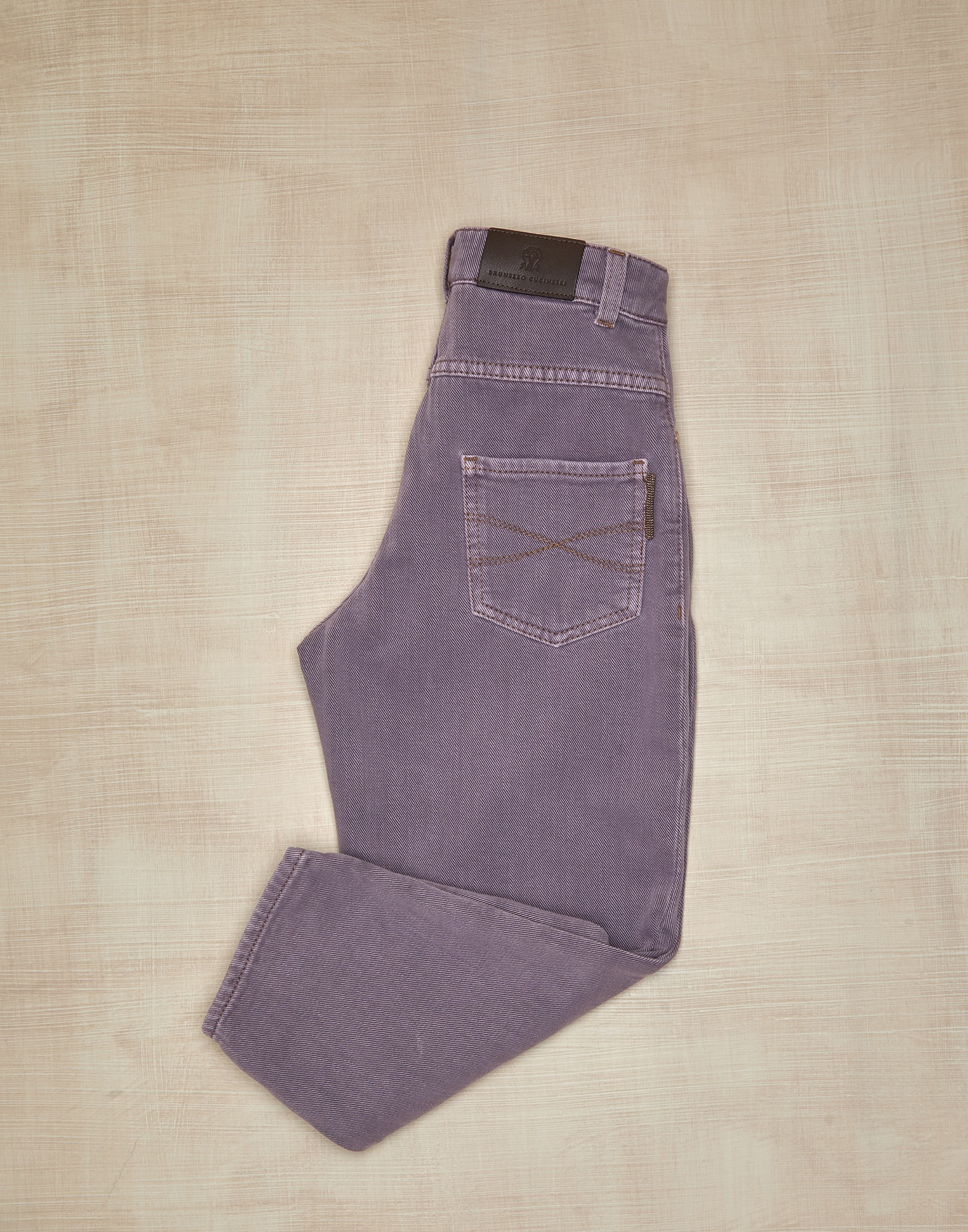 Denim Trousers Mauve Girl 1 - Brunello Cucinelli