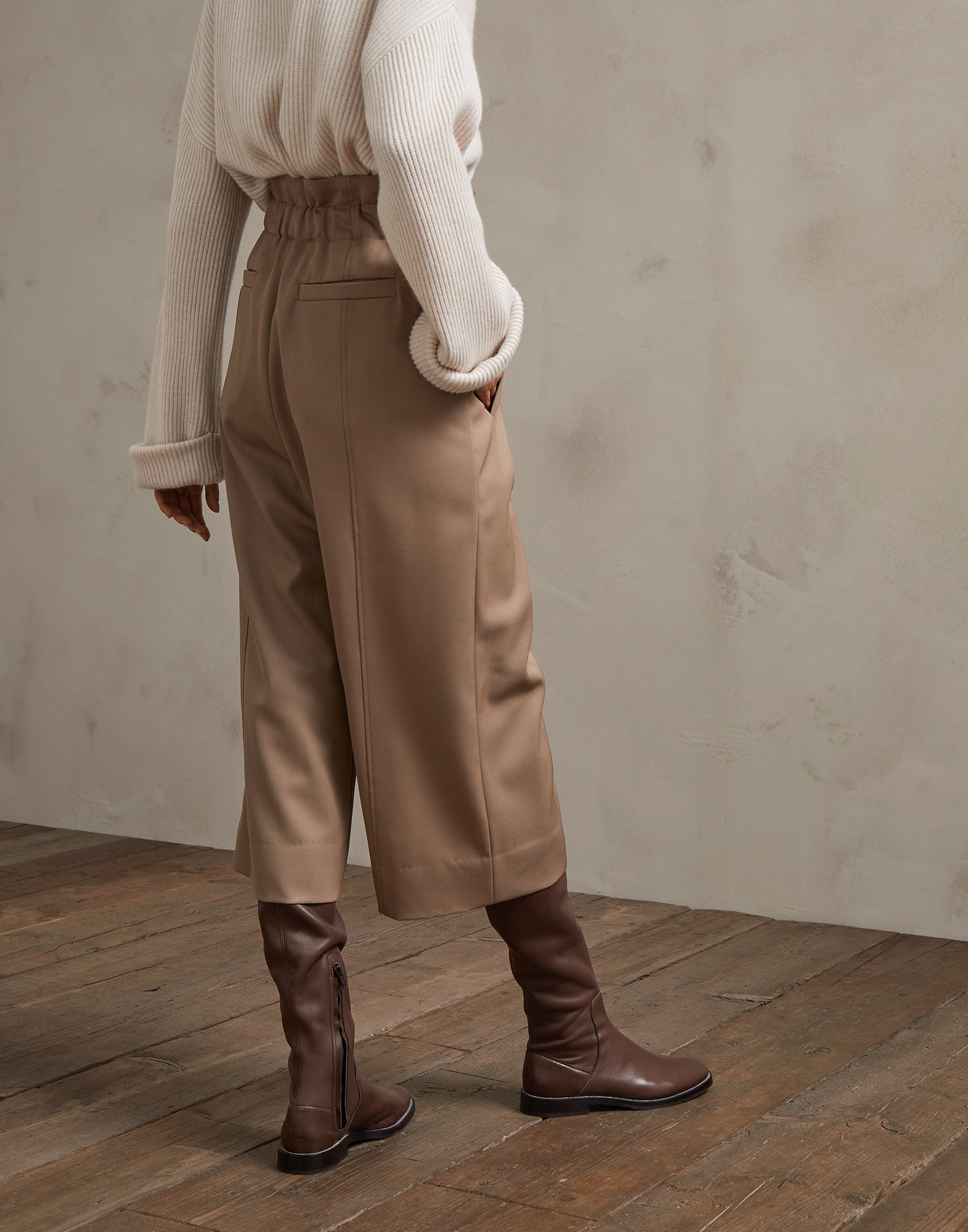 Trousers Light Brown Woman 1 - Brunello Cucinelli