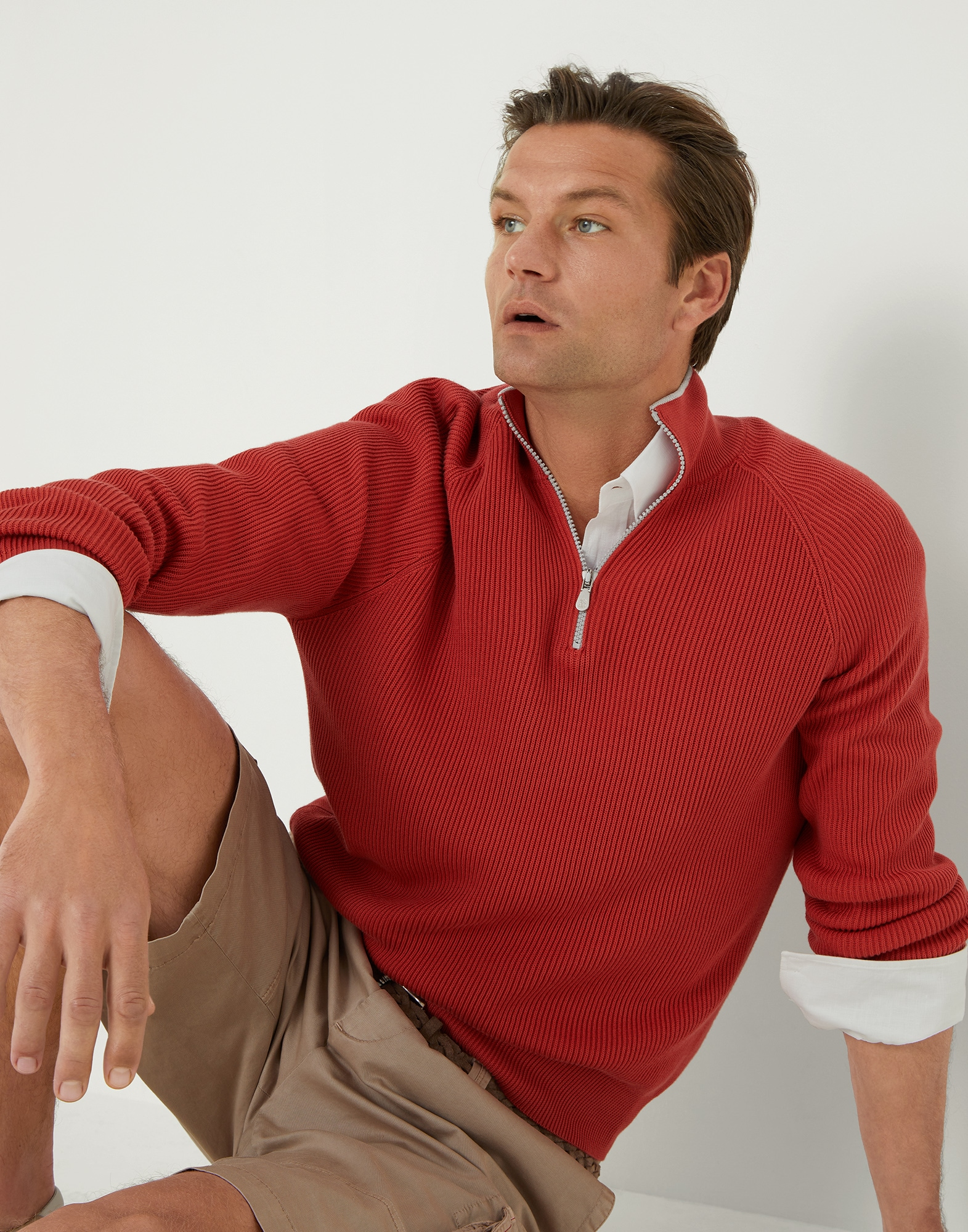 Sweater with zip opening - Editorial