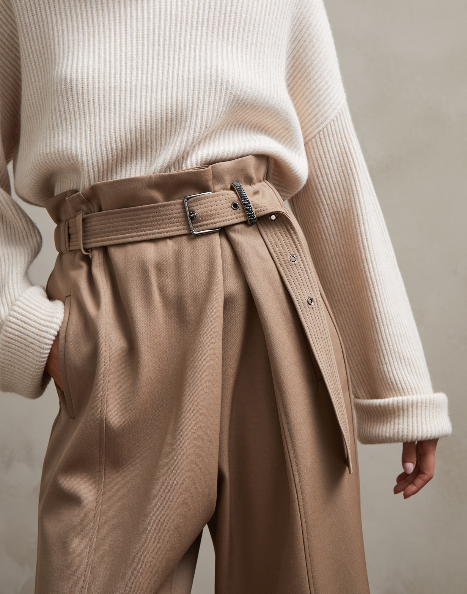 Trousers Light Brown Woman 2 - Brunello Cucinelli