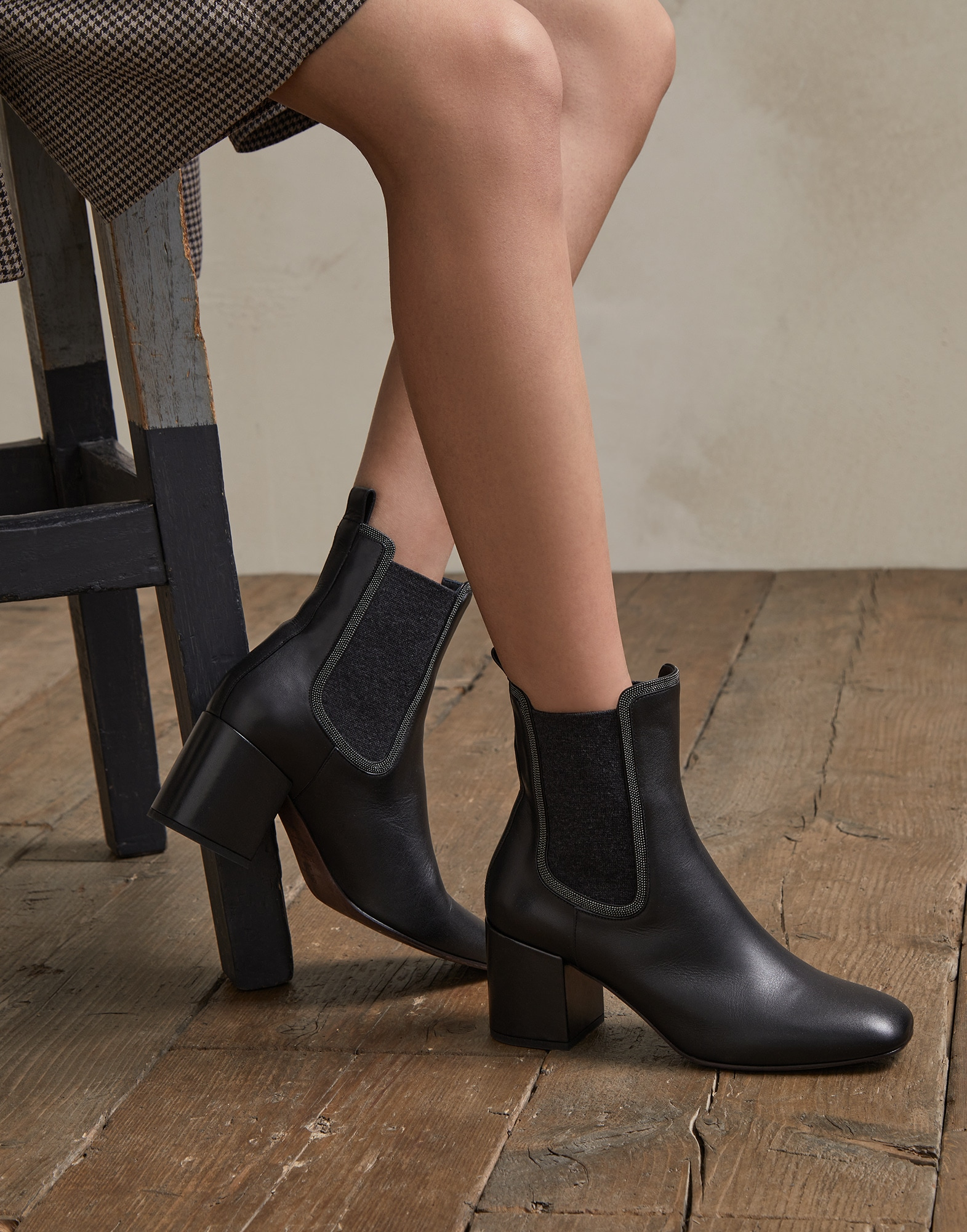 Mid Calf Boots - Editorial