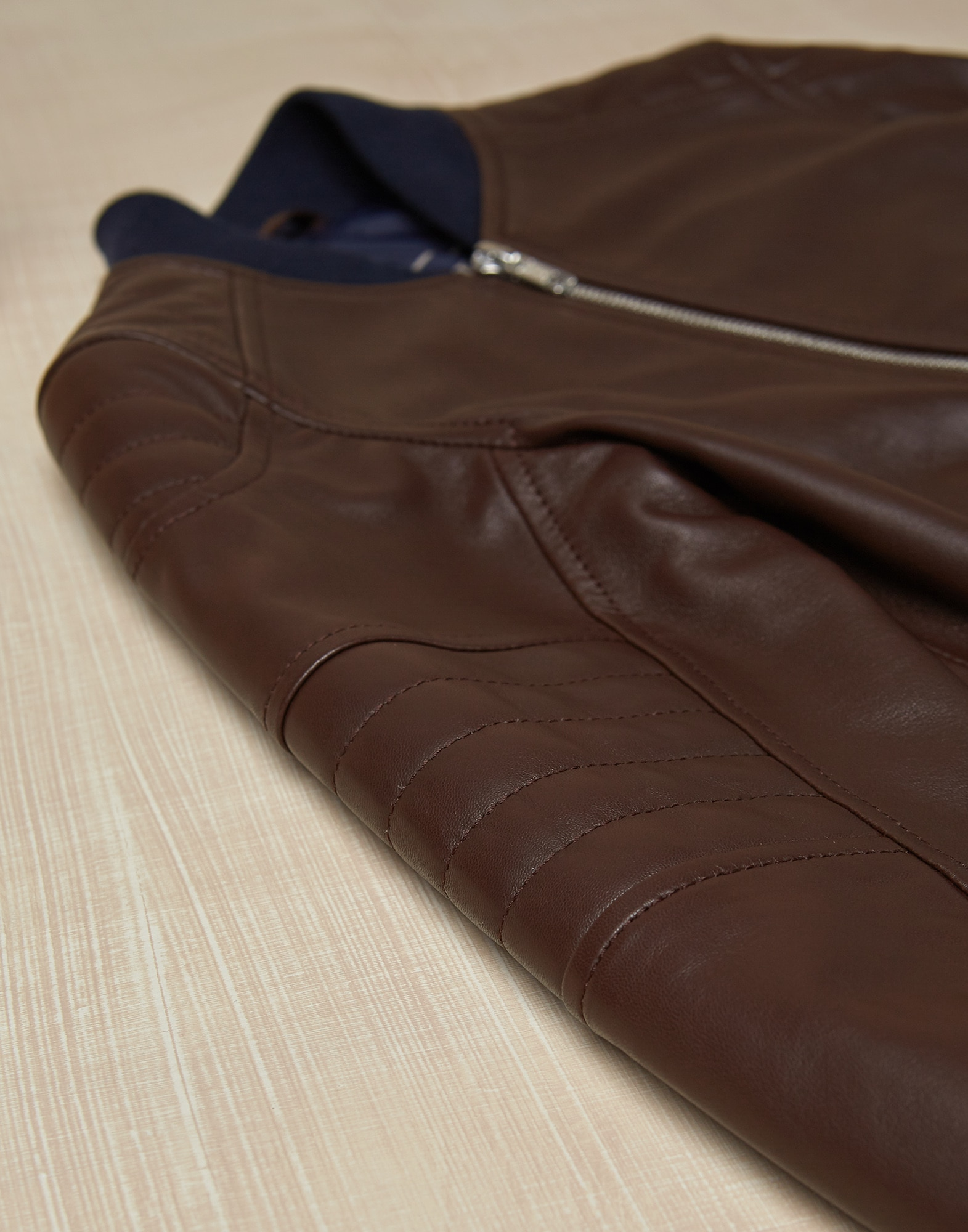 Leather Chestnut Boy 2 - Brunello Cucinelli