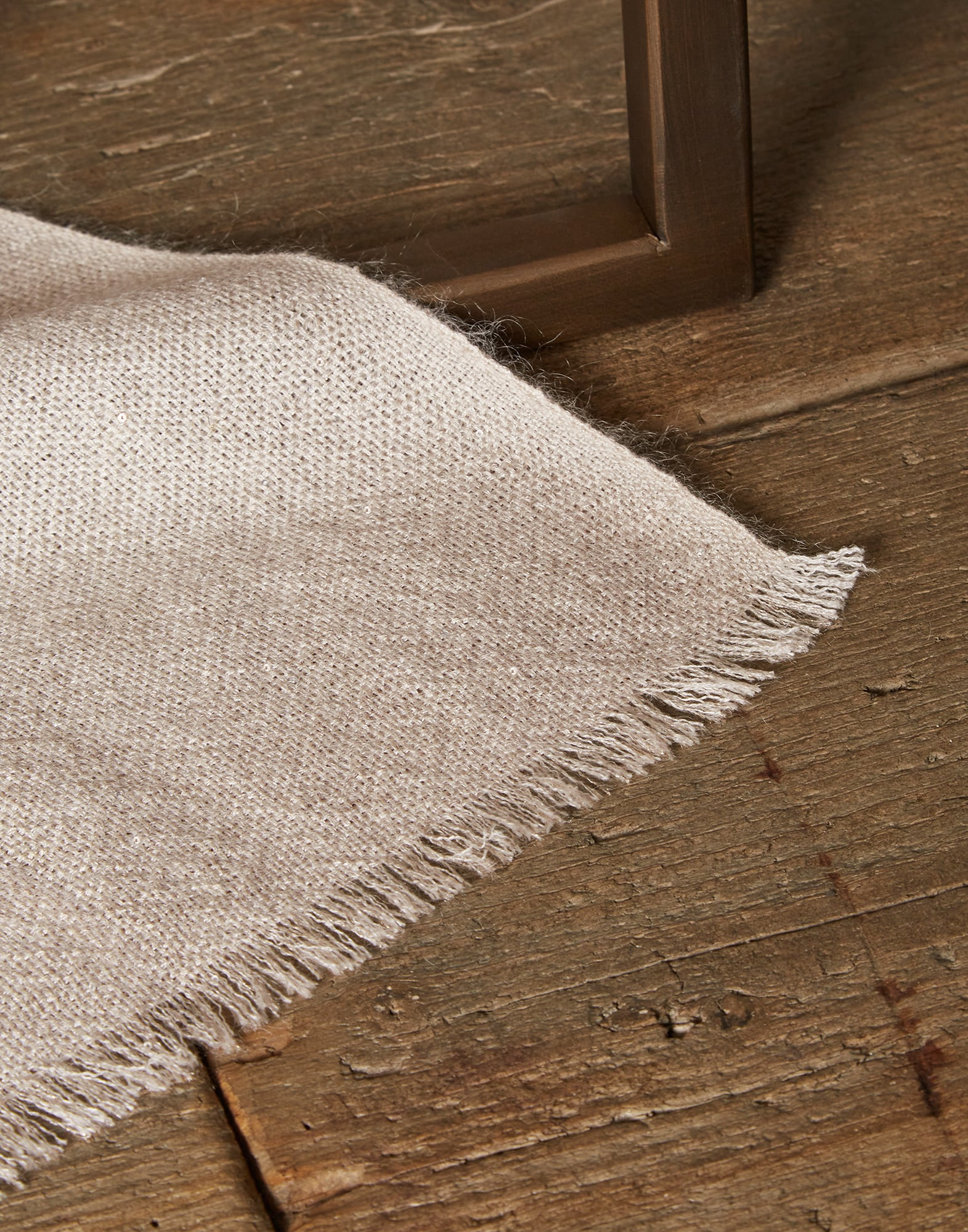 Solid Scarf Cool Beige Woman 1 - Brunello Cucinelli