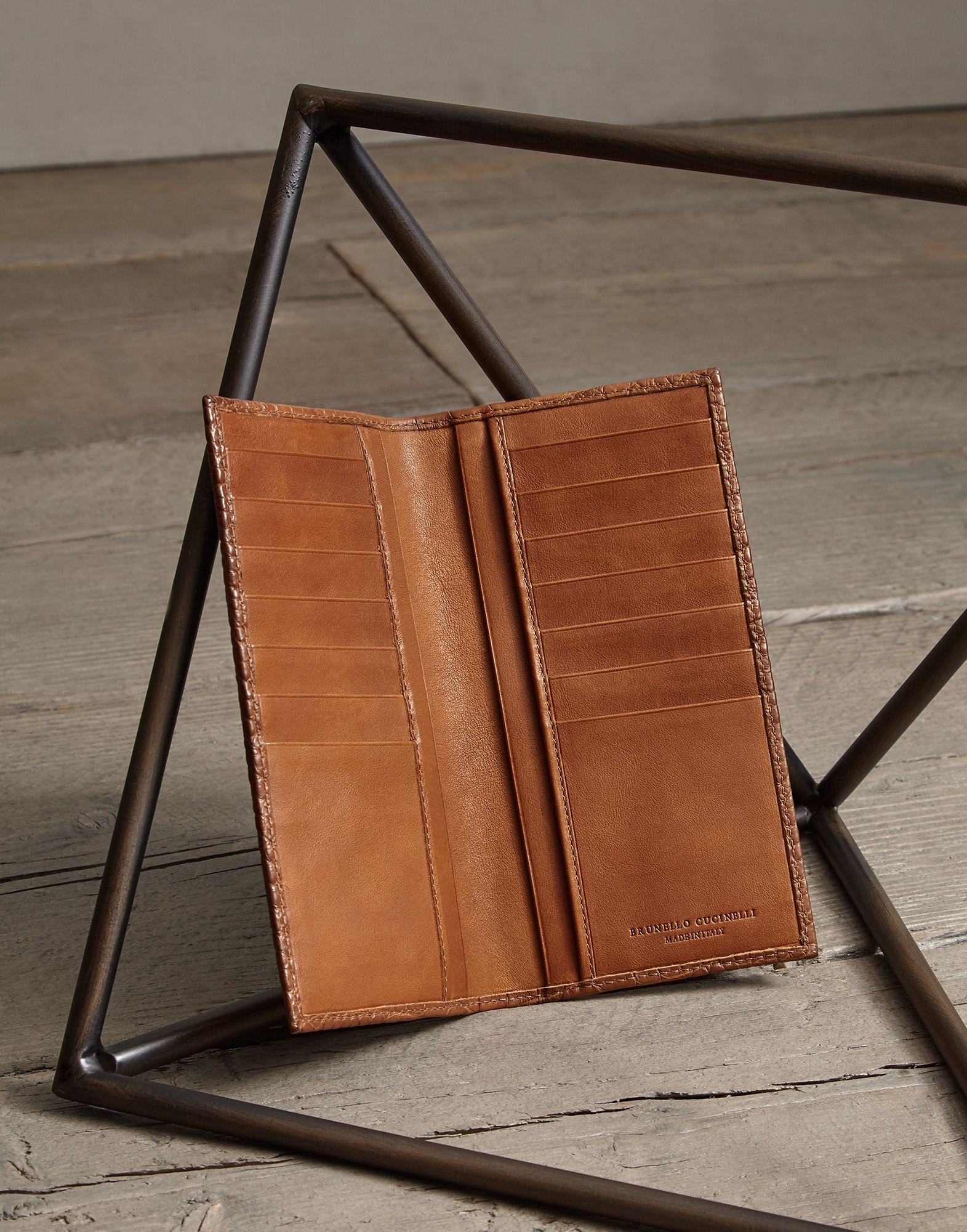Card Holder Cognac Man 2 - Brunello Cucinelli