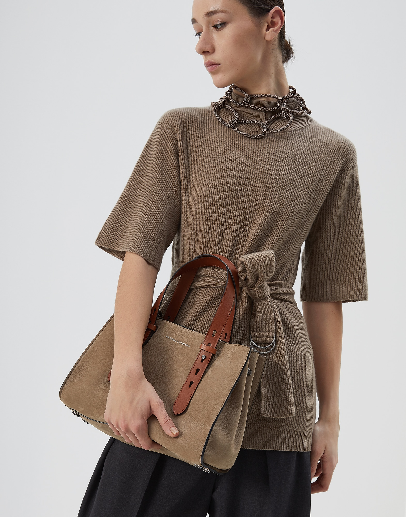 Shopper Bag Hazelnut Woman 4 - Brunello Cucinelli
