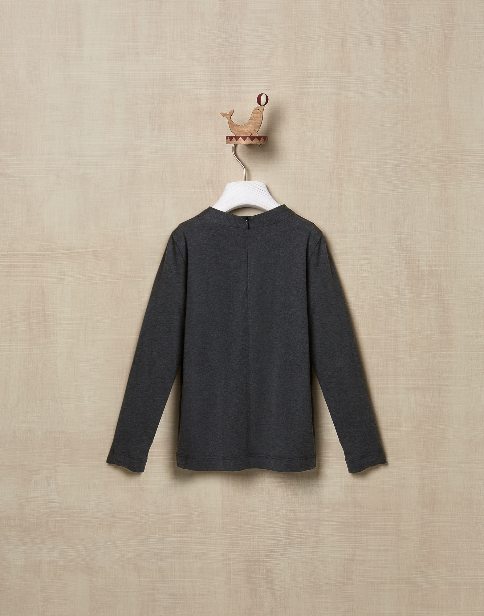 T-Shirt Anthracite Girl 2 - Brunello Cucinelli