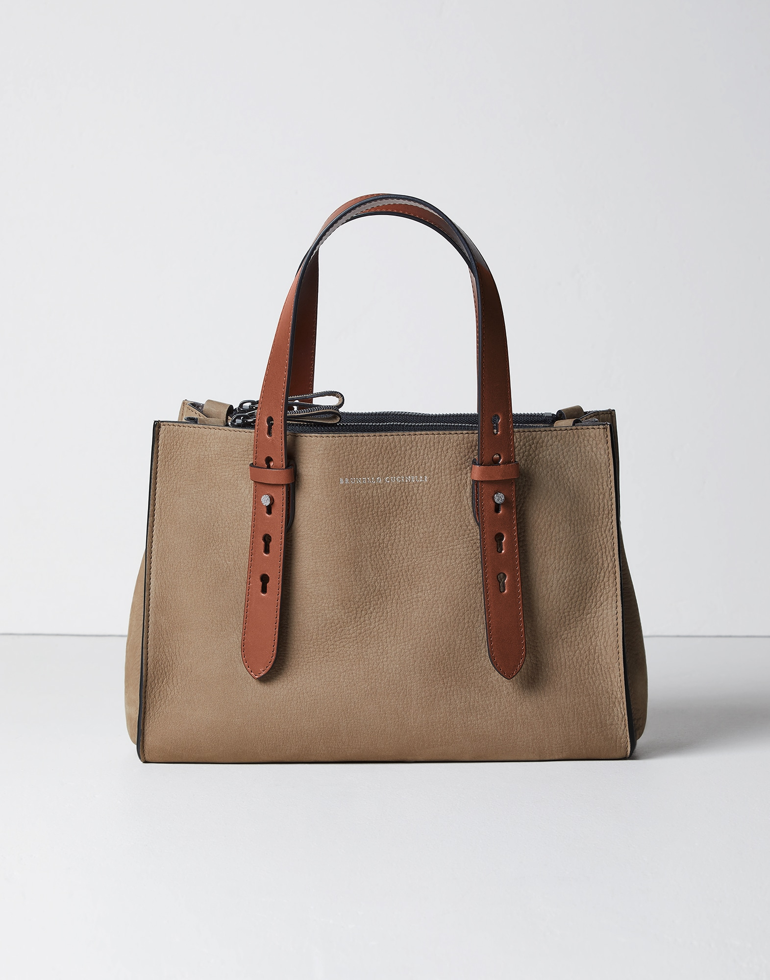 Shopper Bag Hazelnut Woman 0 - Brunello Cucinelli