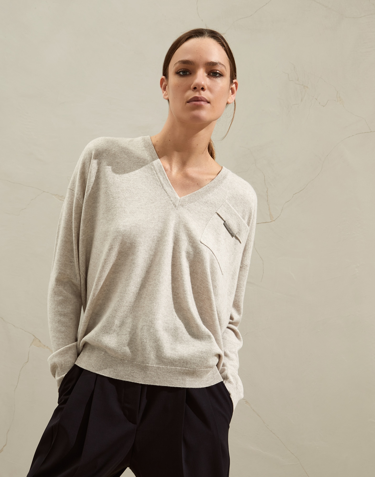 V-neck Sweater - Front
