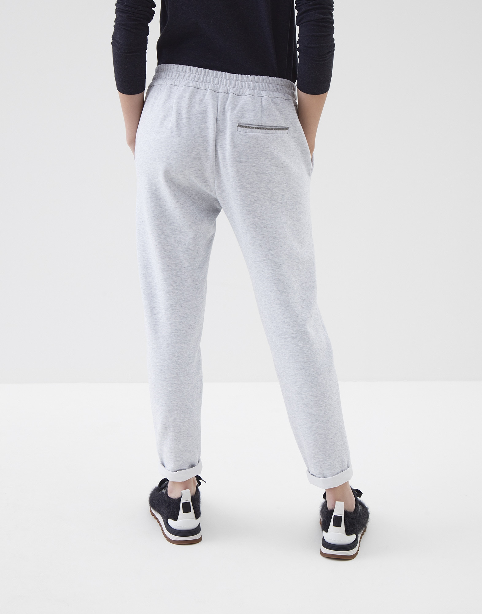 Sweatpants Pebble Woman 1 - Brunello Cucinelli